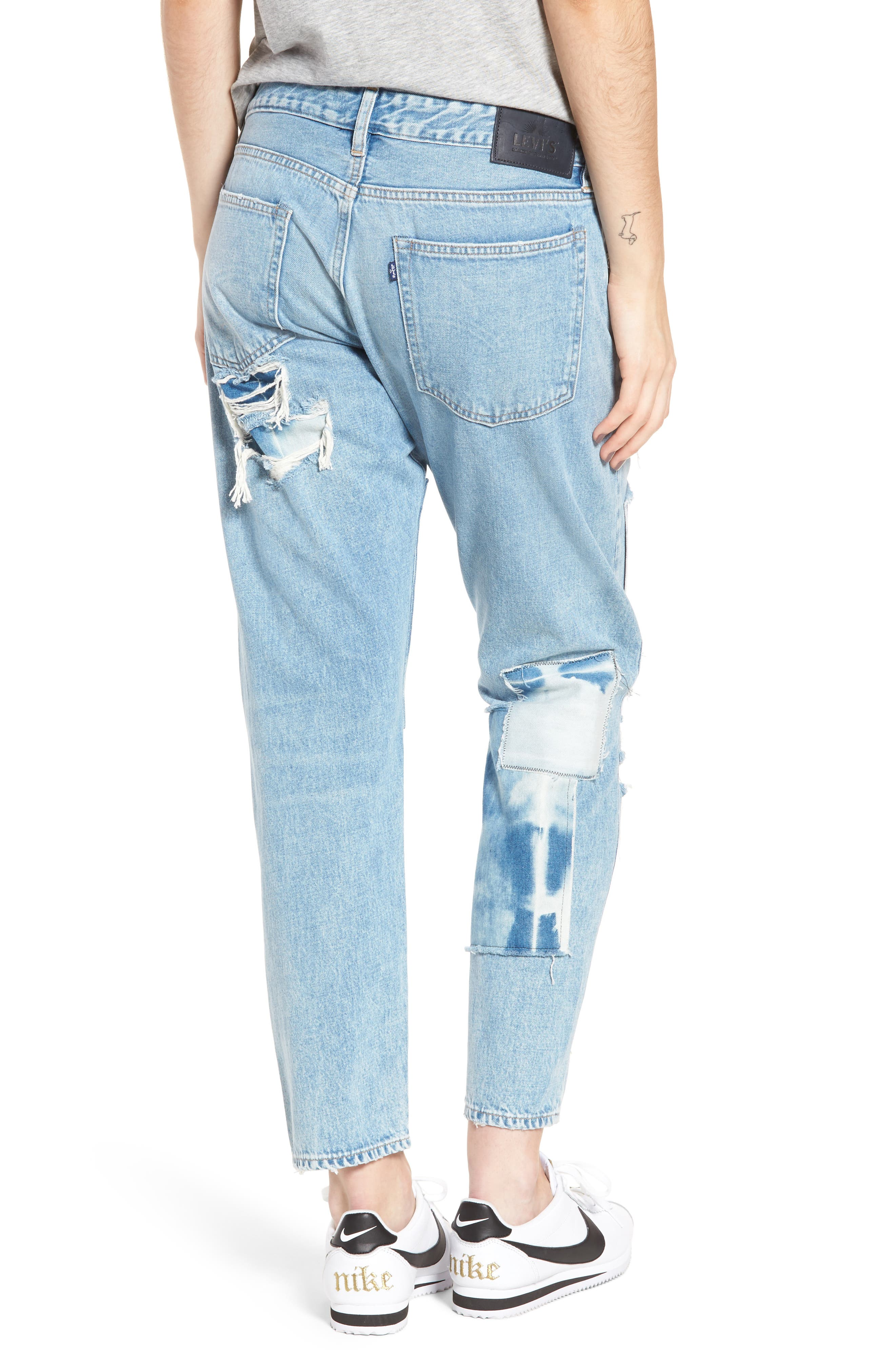 Crush Tapered Jeans,                             Alternate thumbnail 2, color,                             Tidal Wave