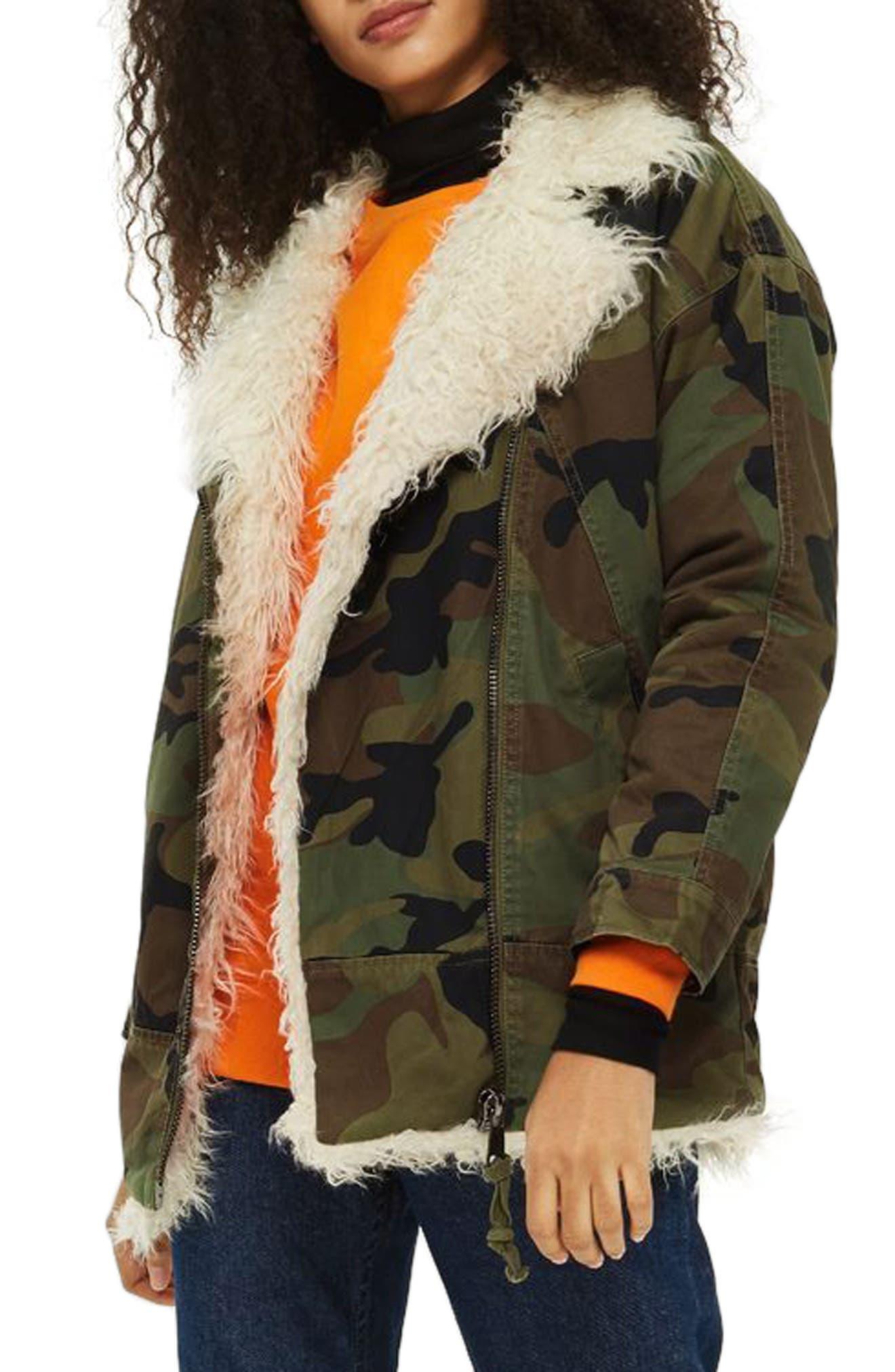 Alternate Image 1 Selected - Topshop Jake Camouflage Jacket