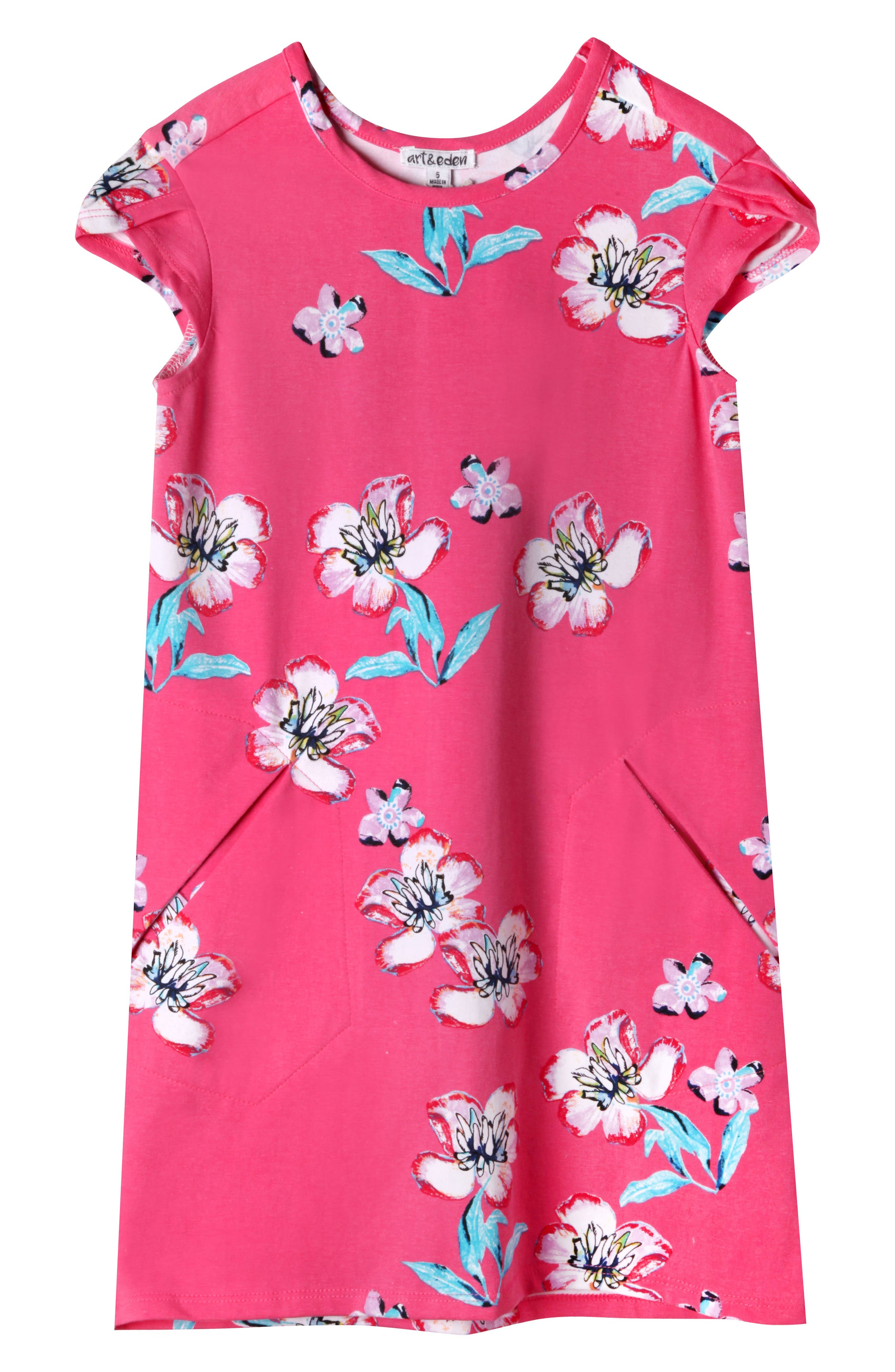 Art & Eden Ivy Plumeria Dress (Toddler Girls & Little Girls)