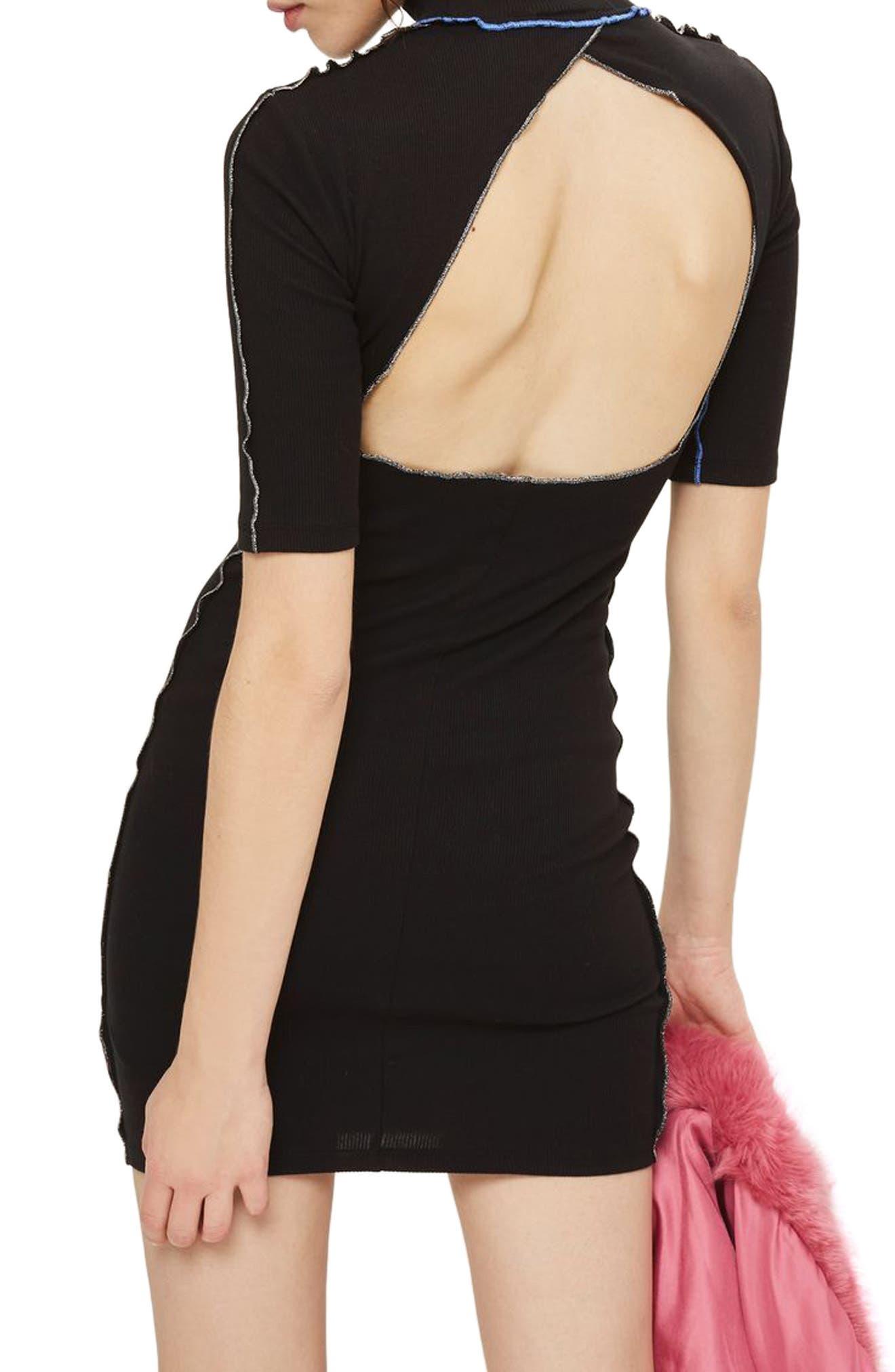 Alternate Image 2  - Topshop Contrast Lettuce Trim Body-Con Dress