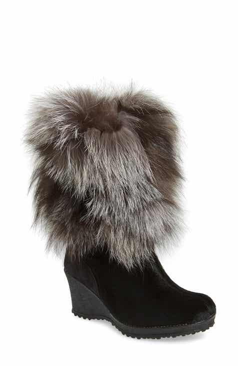 Pajar Angelina Genuine Fox Fur Wedge Boot (Women)
