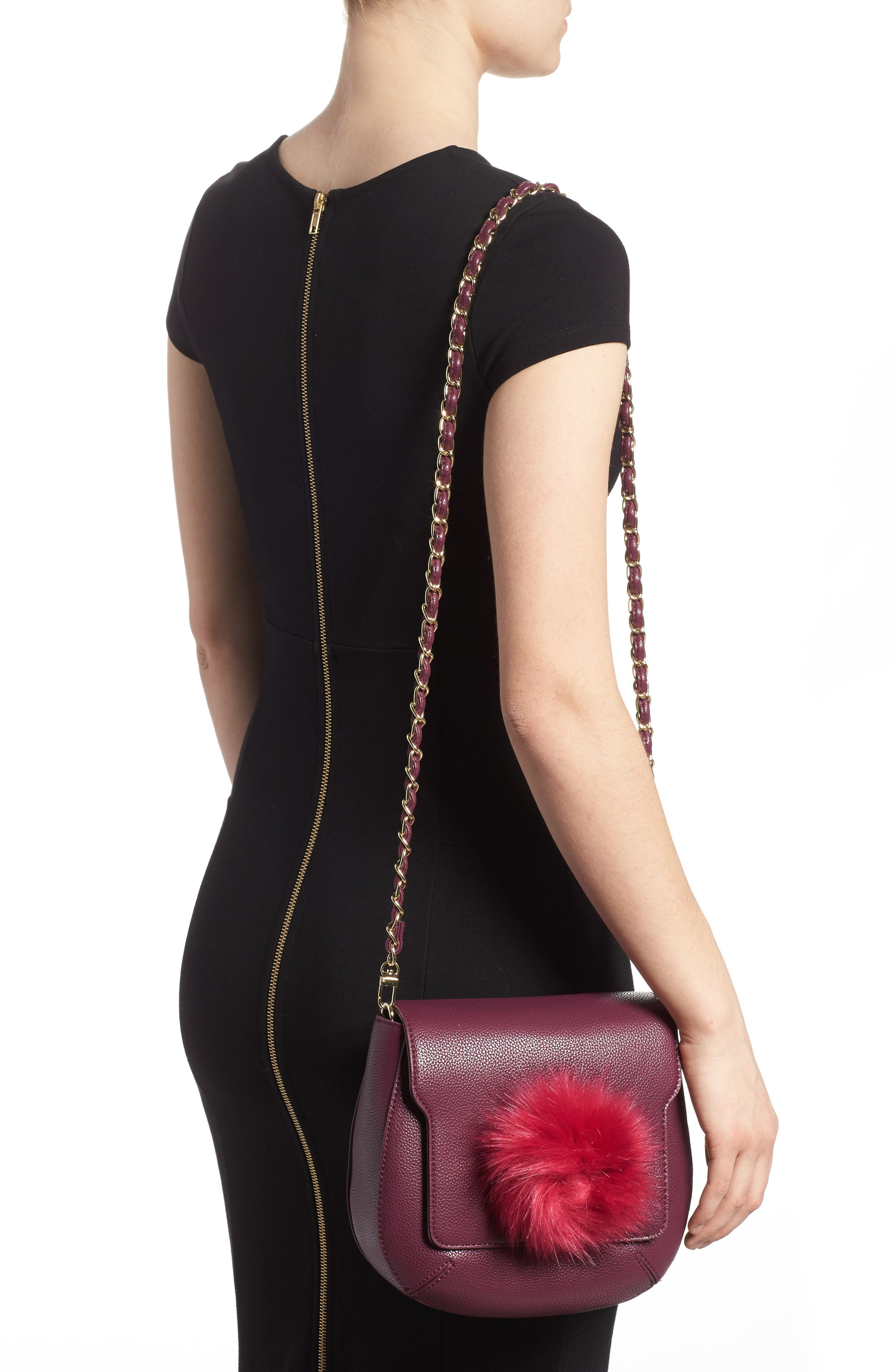 Isa Faux Leather Crossbody Bag,                             Alternate thumbnail 2, color,                             Berry Sweet/ Boysenberry