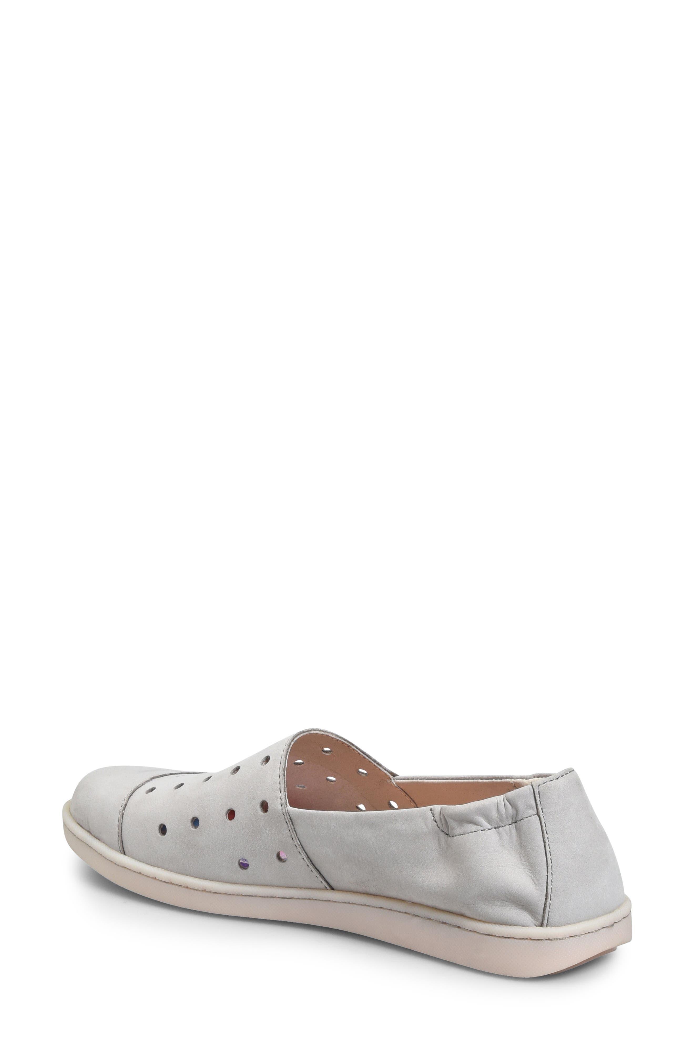 Kristin Sneaker,                             Alternate thumbnail 2, color,                             Light Grey Nubuck Leather
