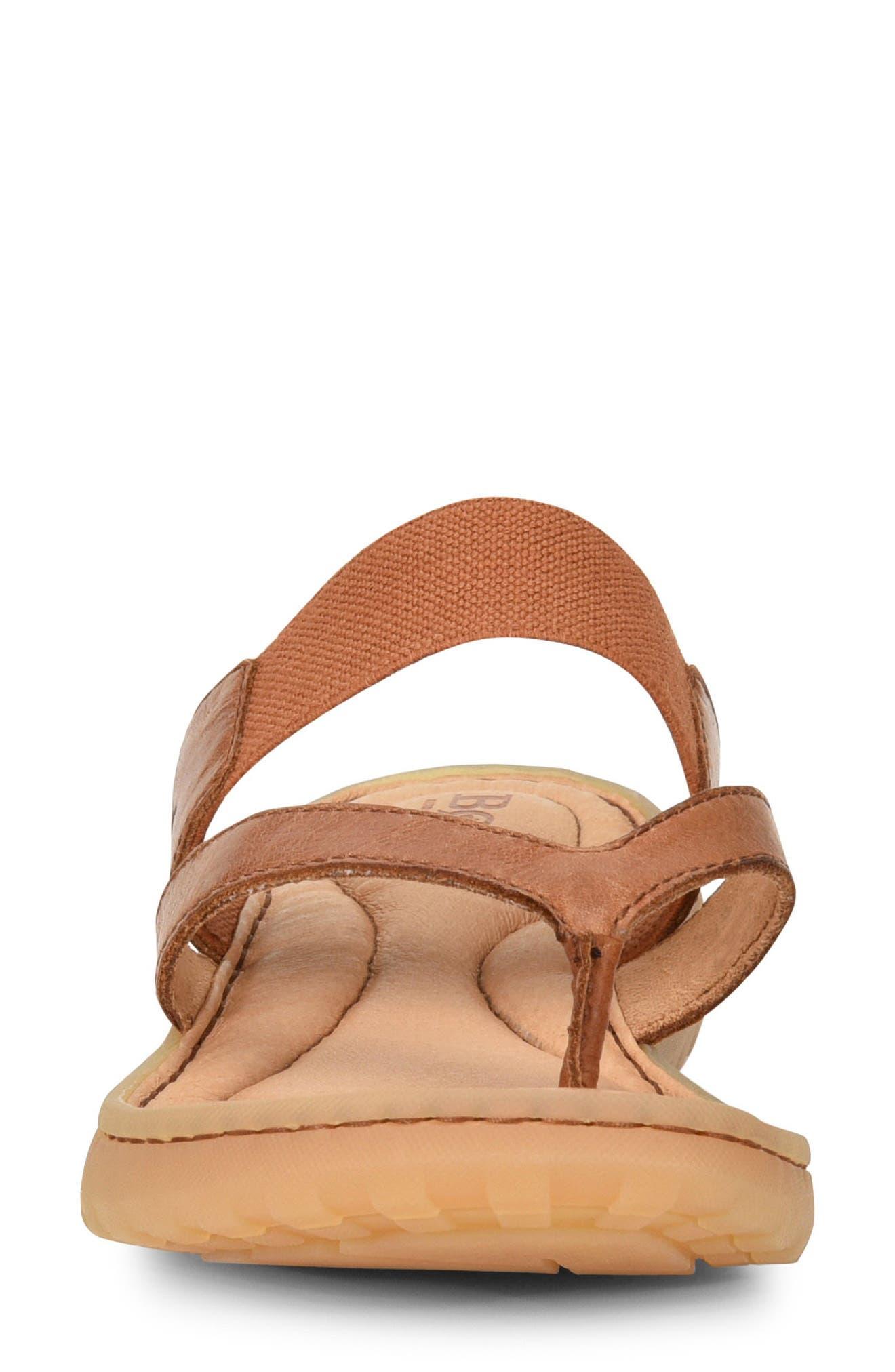 Nevis Sandal,                             Alternate thumbnail 4, color,                             Brown Leather