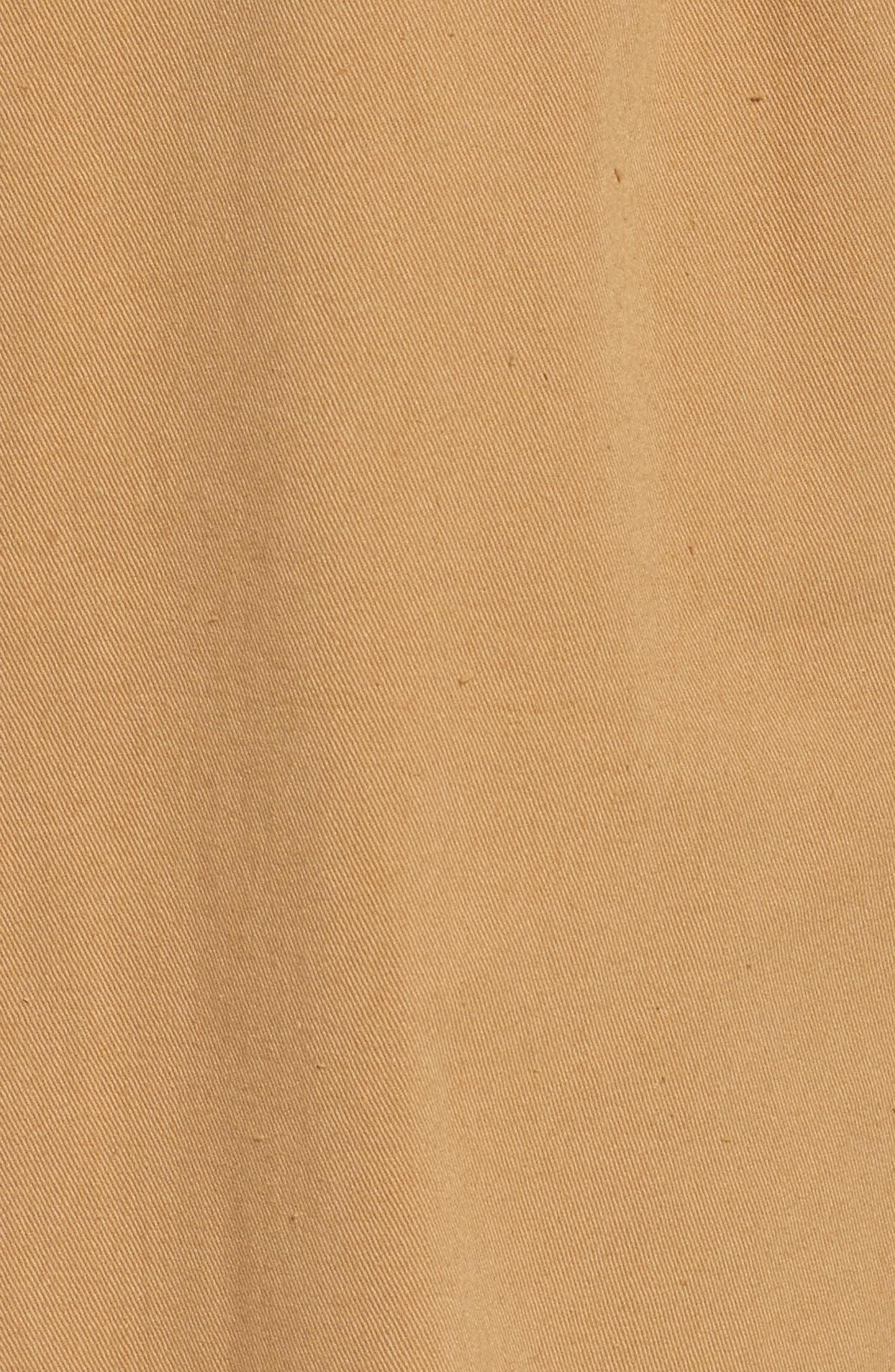 Paperbag Waist Crop Pants,                             Alternate thumbnail 5, color,                             Khaki