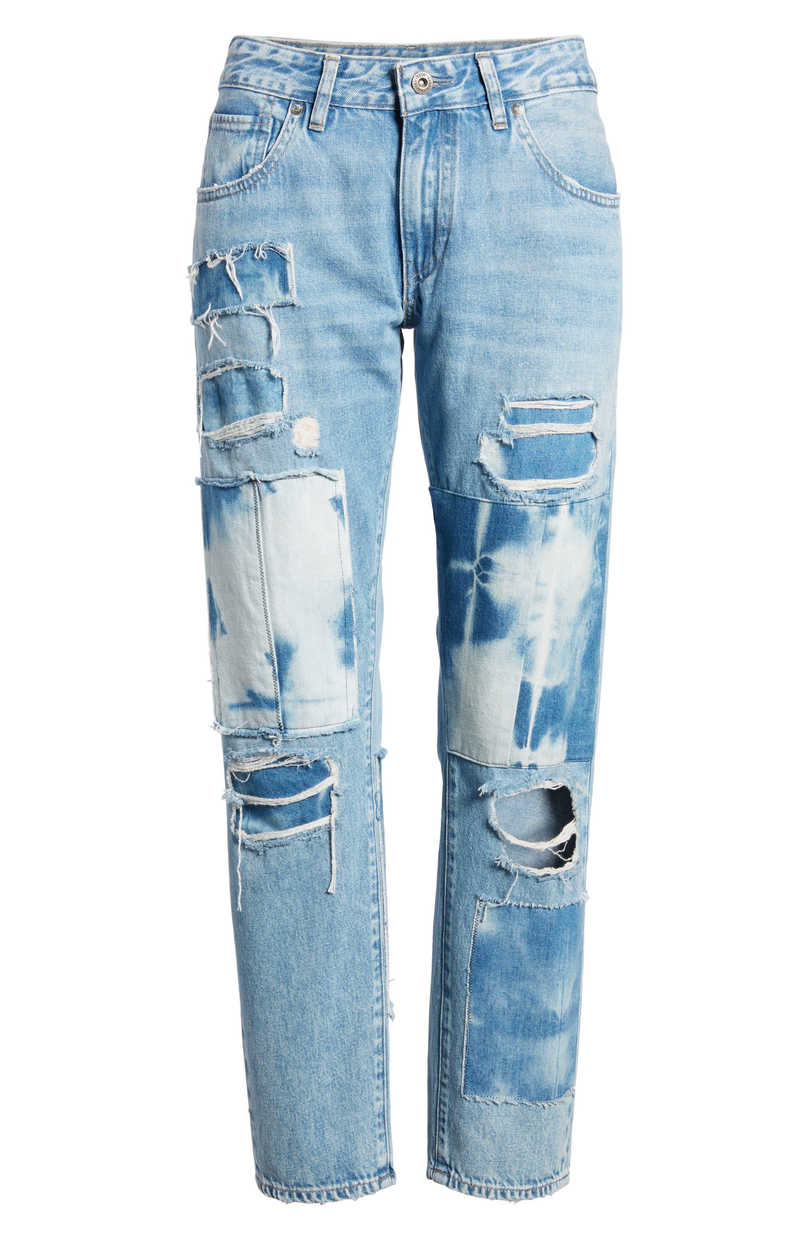 Crush Tapered Jeans,                             Alternate thumbnail 7, color,                             Tidal Wave