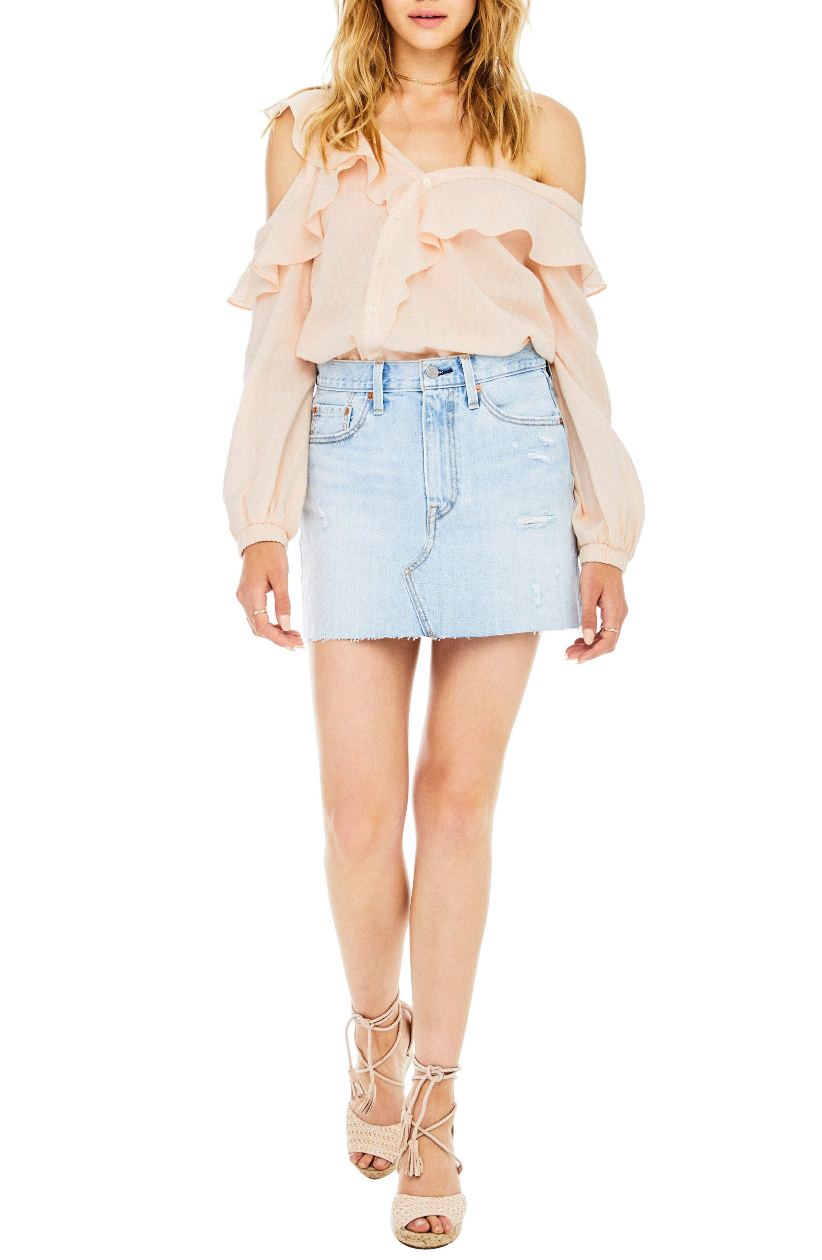 Alternate Image 1 Selected - ASTR the Label Paige Off the Shoulder Blouse