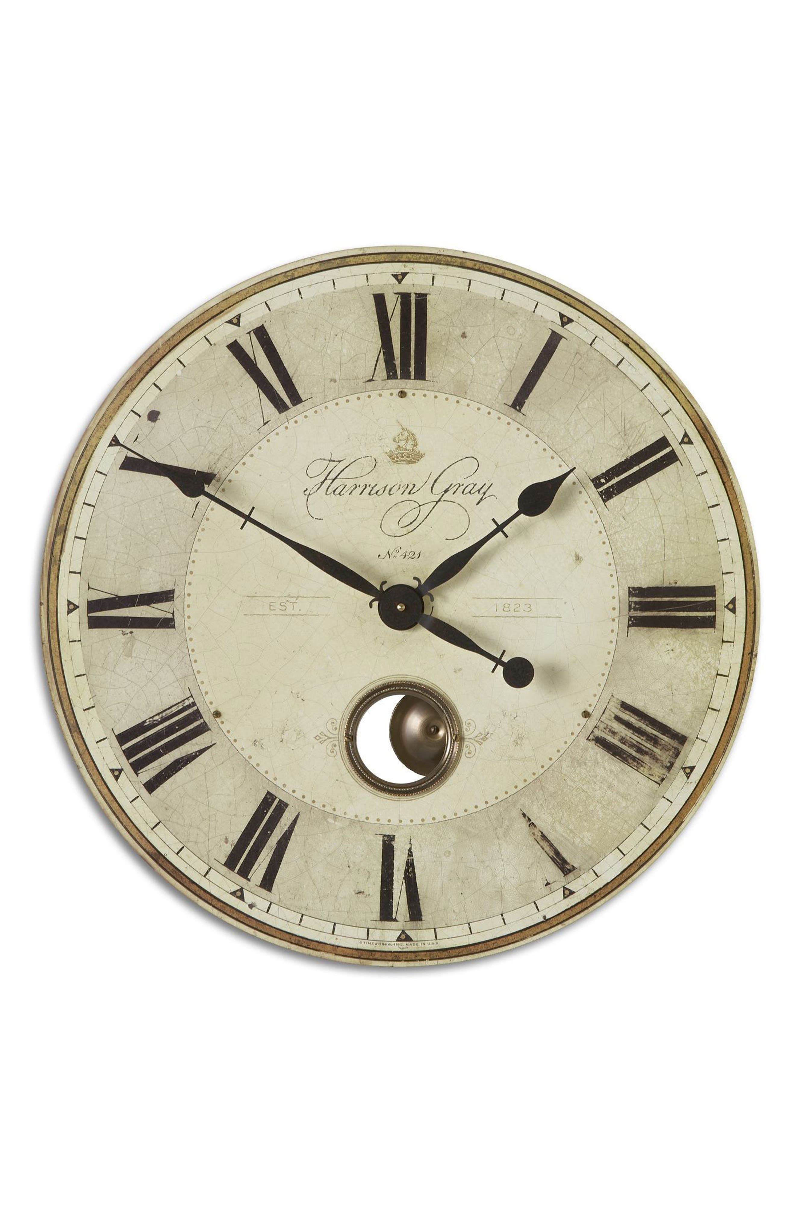 Harrison Gray Wall Clock,                         Main,                         color, Metallic Rust/ Copper