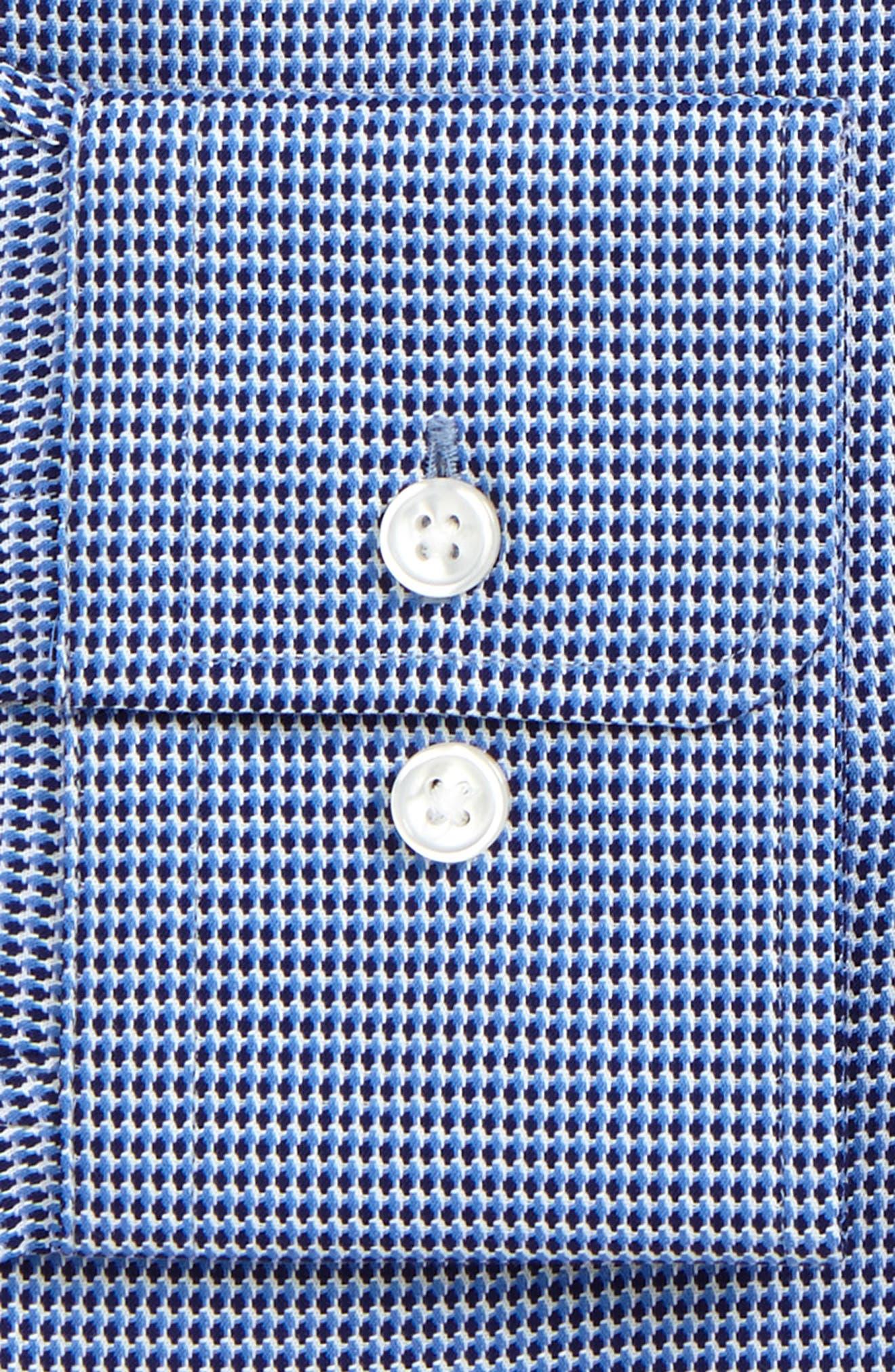 Gordon Regular Fit Print Dress Shirt,                             Alternate thumbnail 2, color,                             Light Blue
