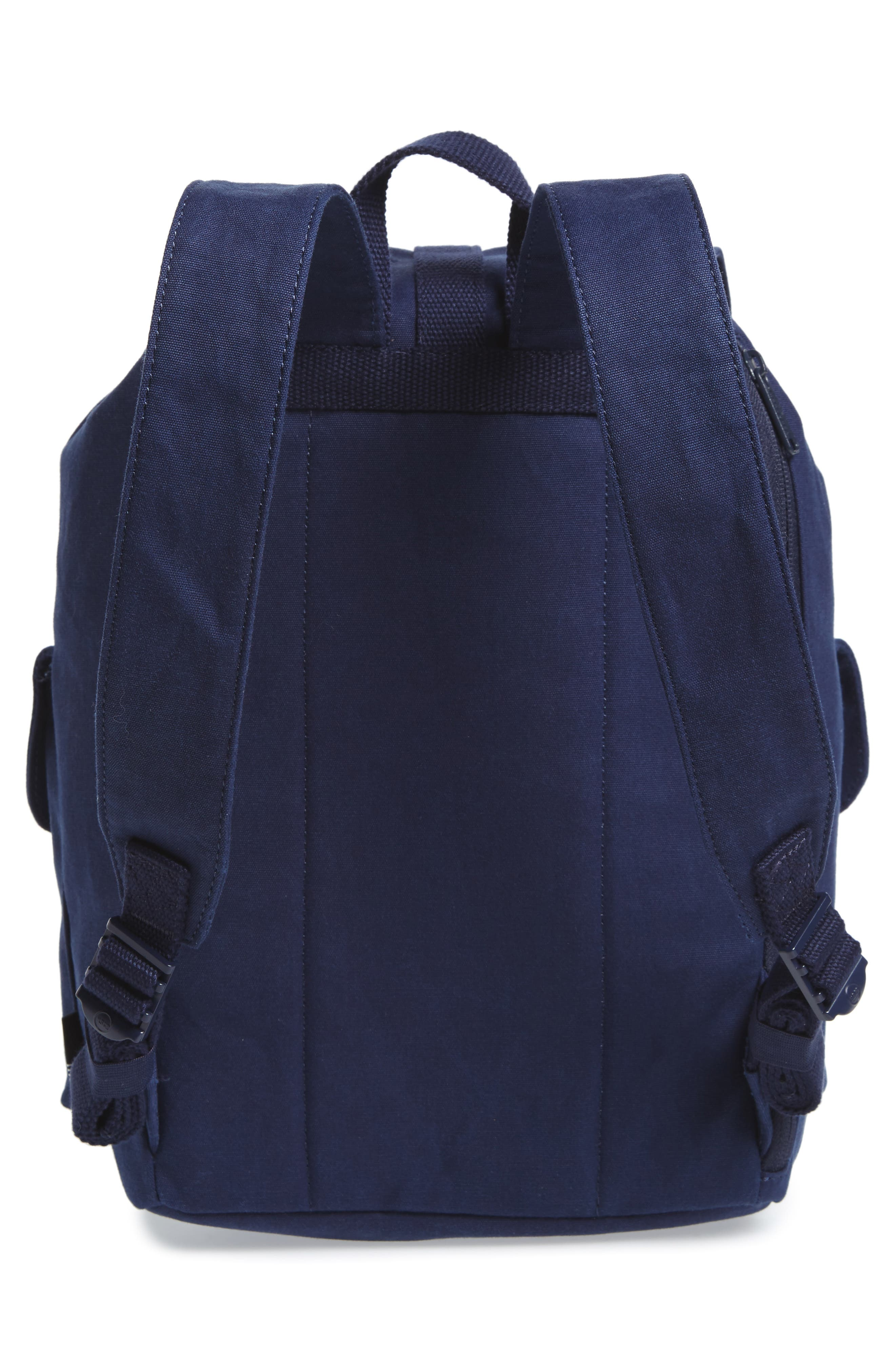 X-Small Dawson Canvas Backpack,                             Alternate thumbnail 3, color,                             Peacoat