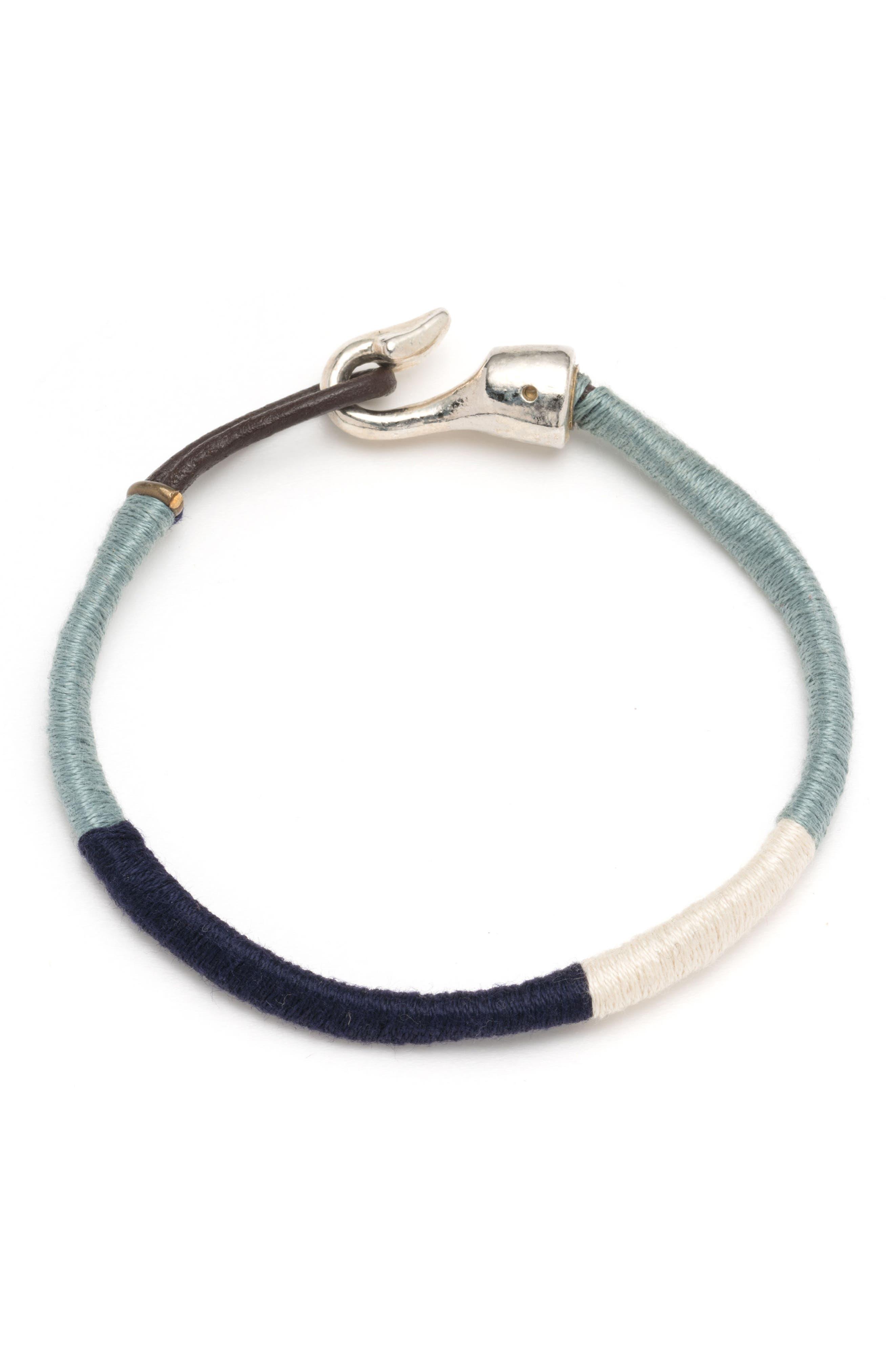 Wrapped Bracelet,                             Main thumbnail 1, color,                             Blue