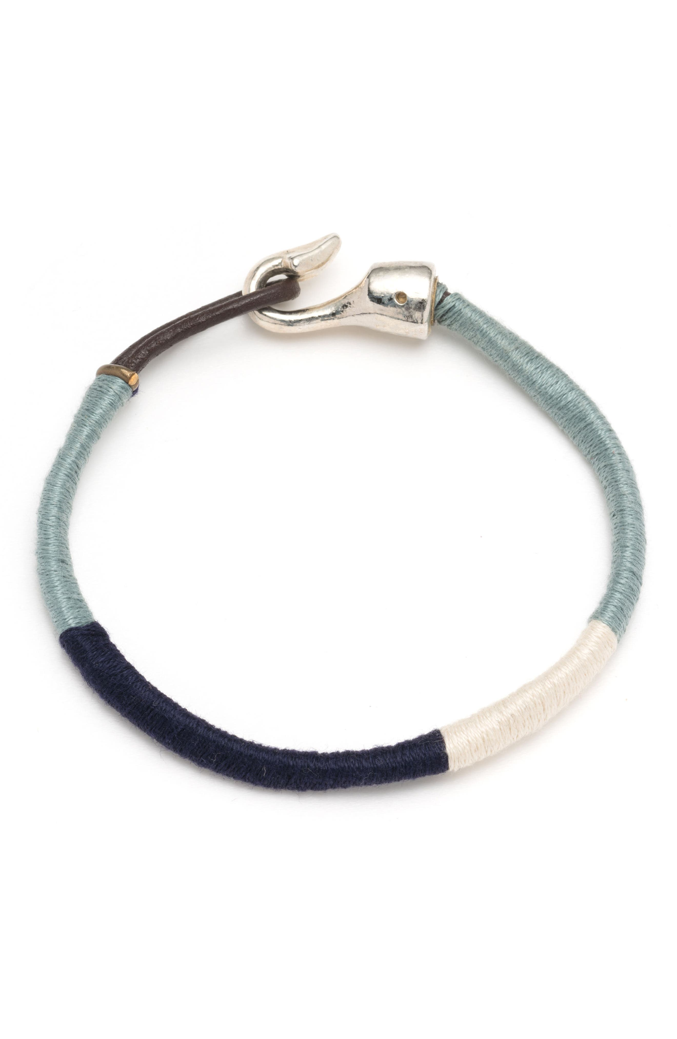 Wrapped Bracelet,                         Main,                         color, Blue