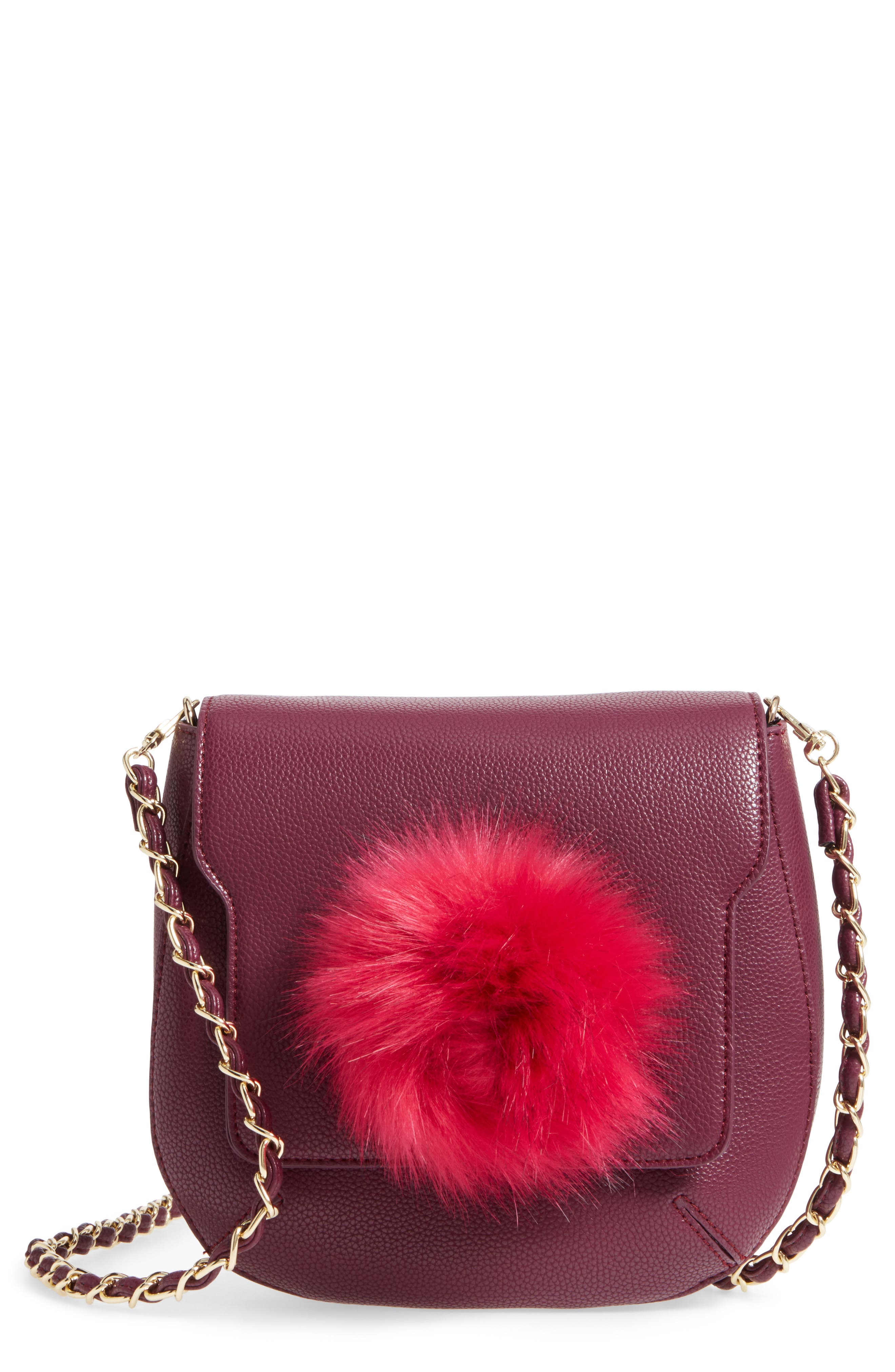 Isa Faux Leather Crossbody Bag,                         Main,                         color, Berry Sweet/ Boysenberry
