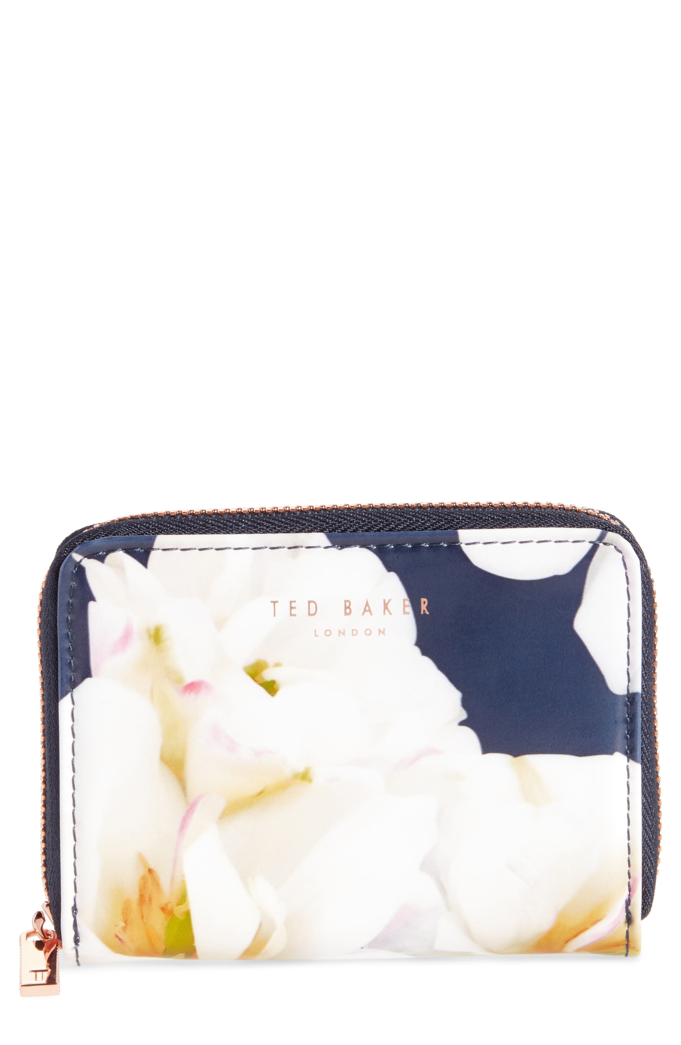 Main Image - Ted Baker London Small Kirsty Gardenia Zip Around Leather Wallet