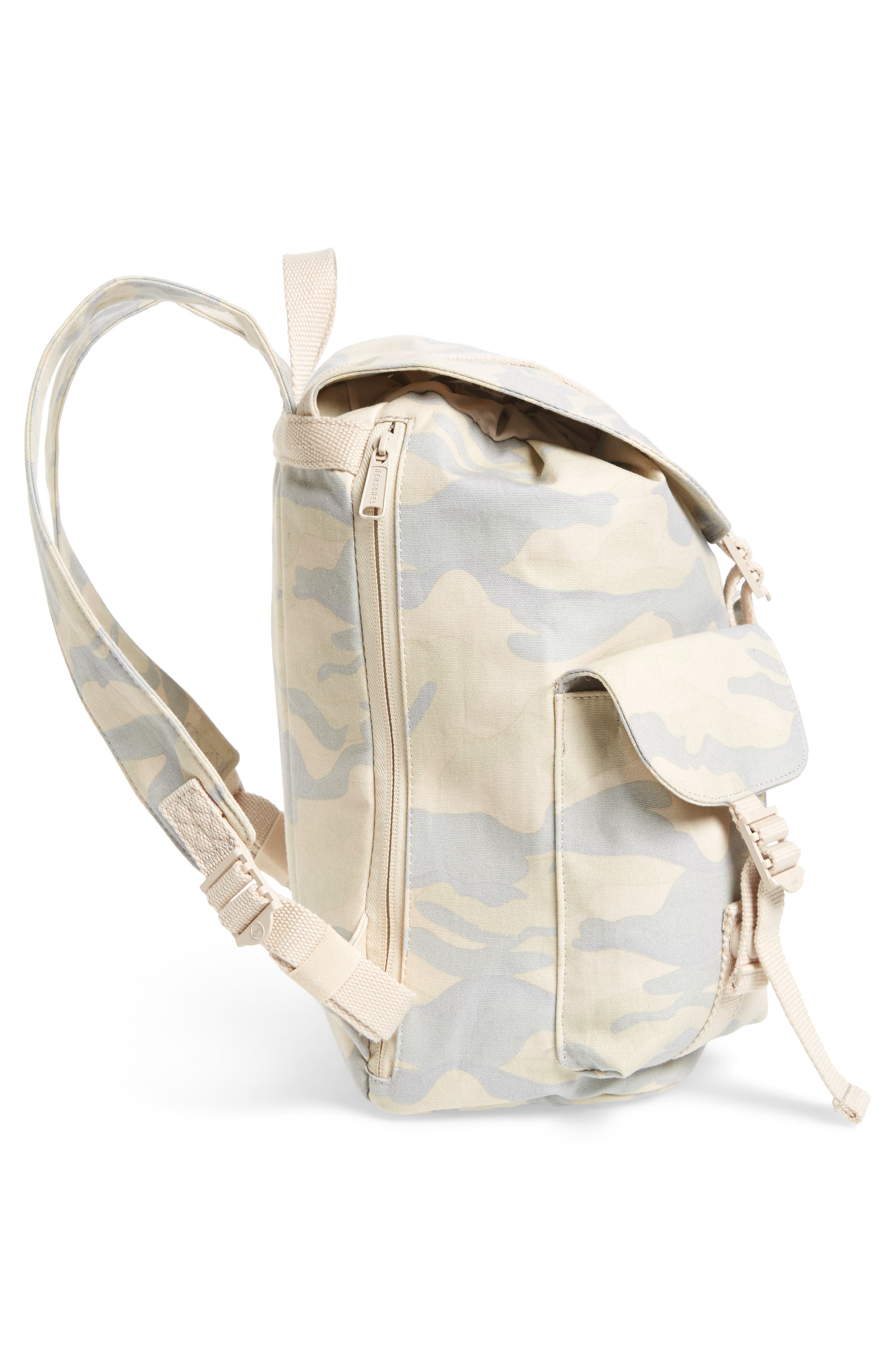 X-Small Dawson Camo Canvas Backpack,                             Alternate thumbnail 5, color,                             Washed Canvas Camo