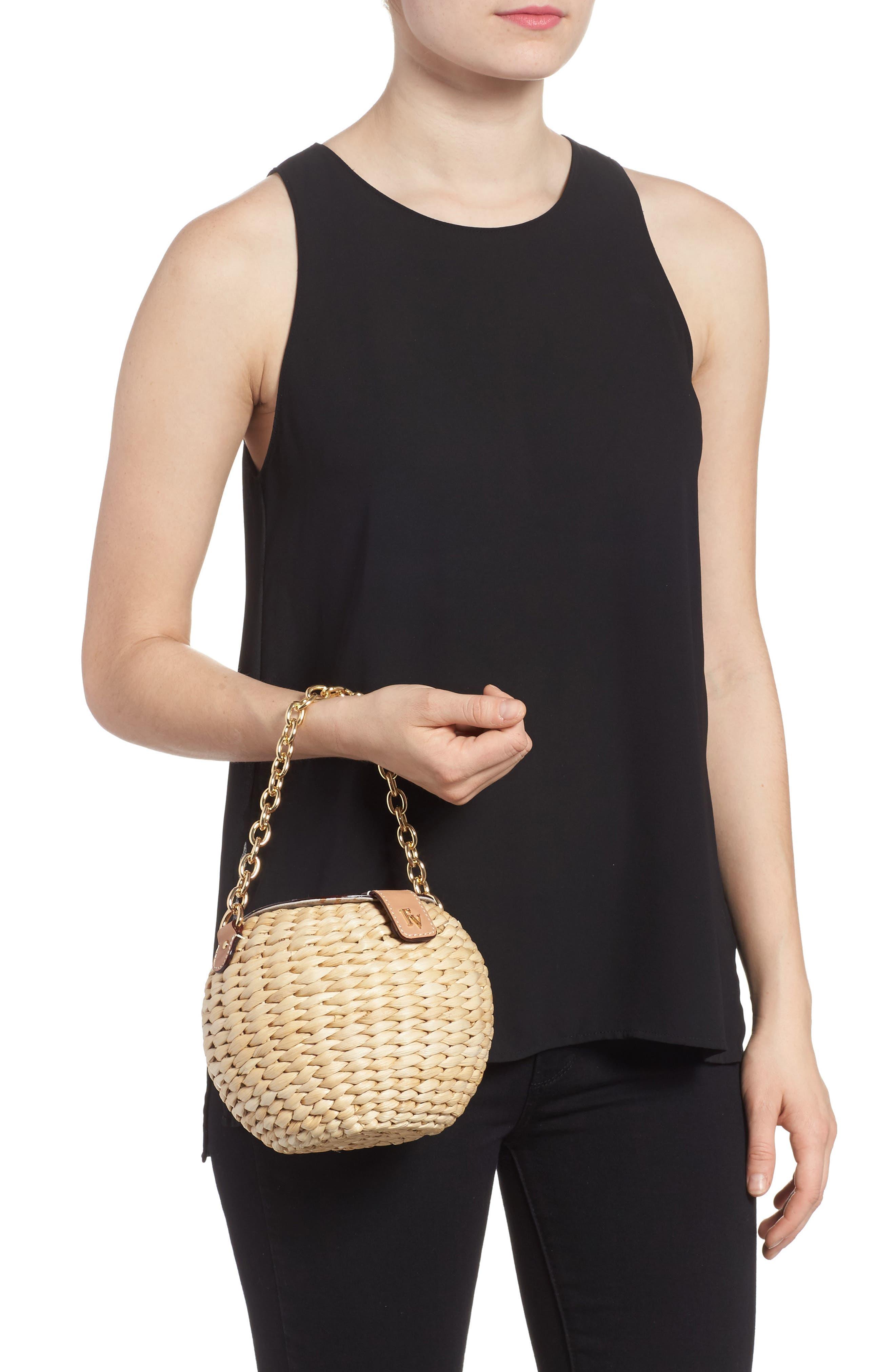 Alternate Image 2  - Frances Valentine Mini Woven Bucket Bag