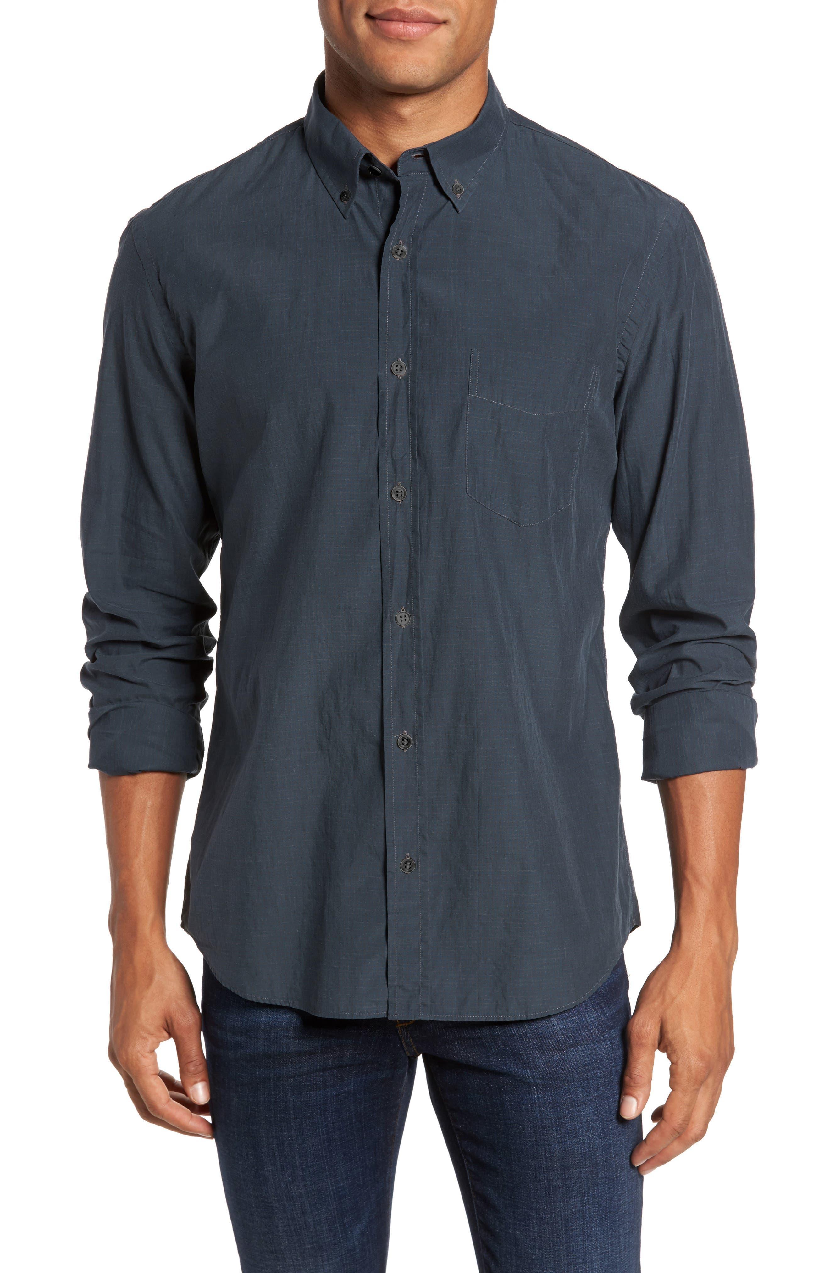 Rosedale Slim Fit Check Sport Shirt,                             Main thumbnail 1, color,                             Dark Green