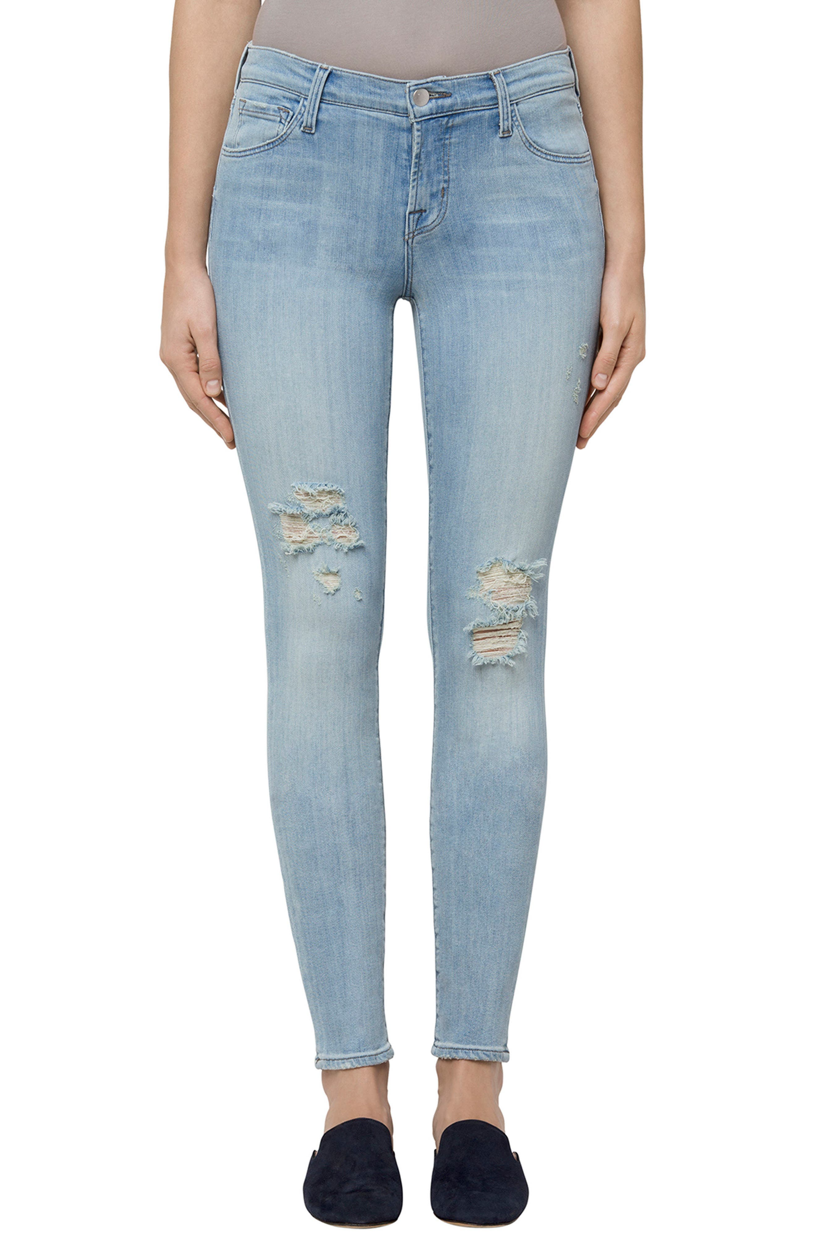 811 Skinny Jeans,                             Main thumbnail 1, color,                             Refresh Destruct