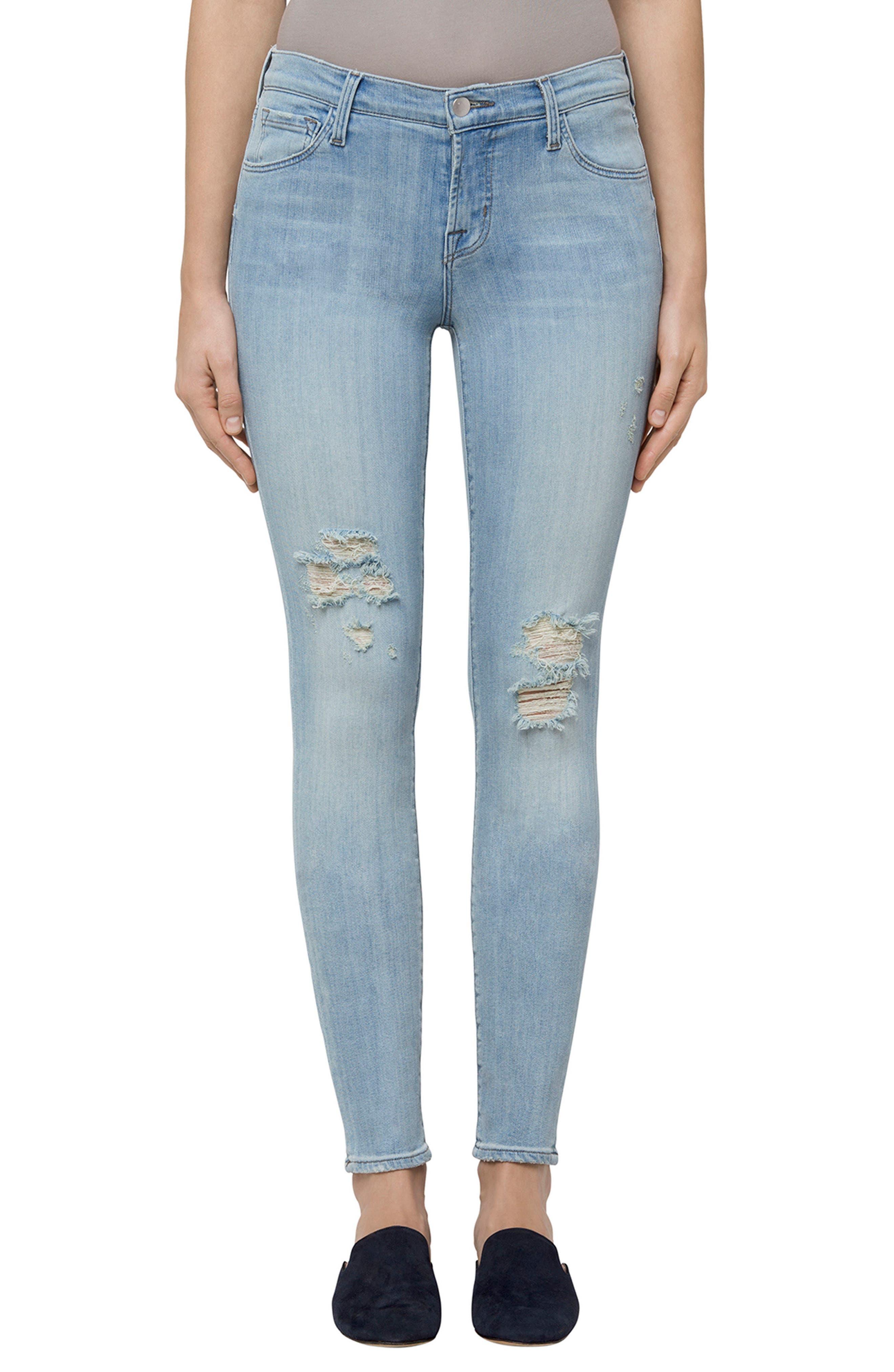 811 Skinny Jeans,                         Main,                         color, Refresh Destruct