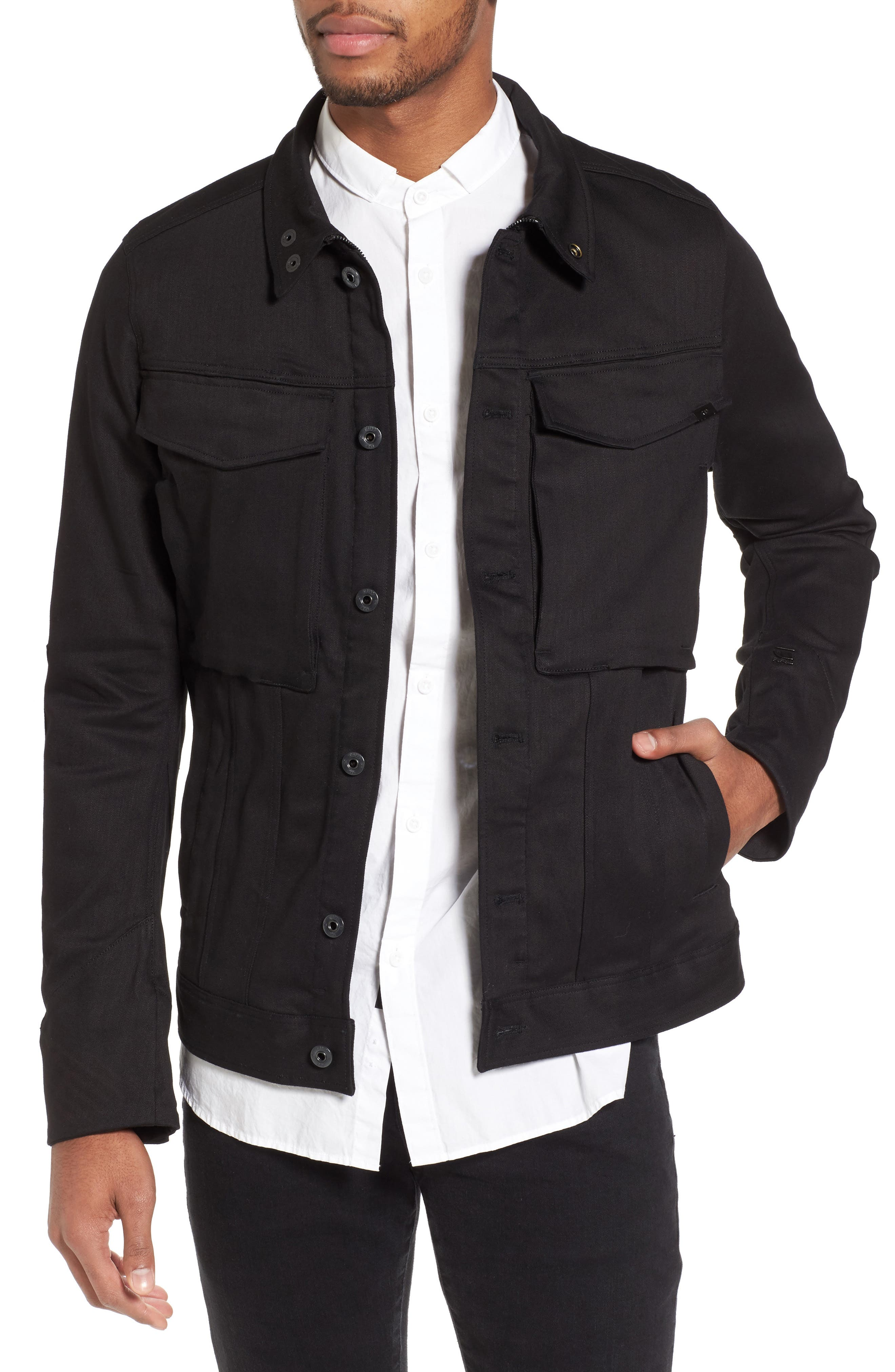 Vodan 3D Slim Jacket,                         Main,                         color, Raw Denim