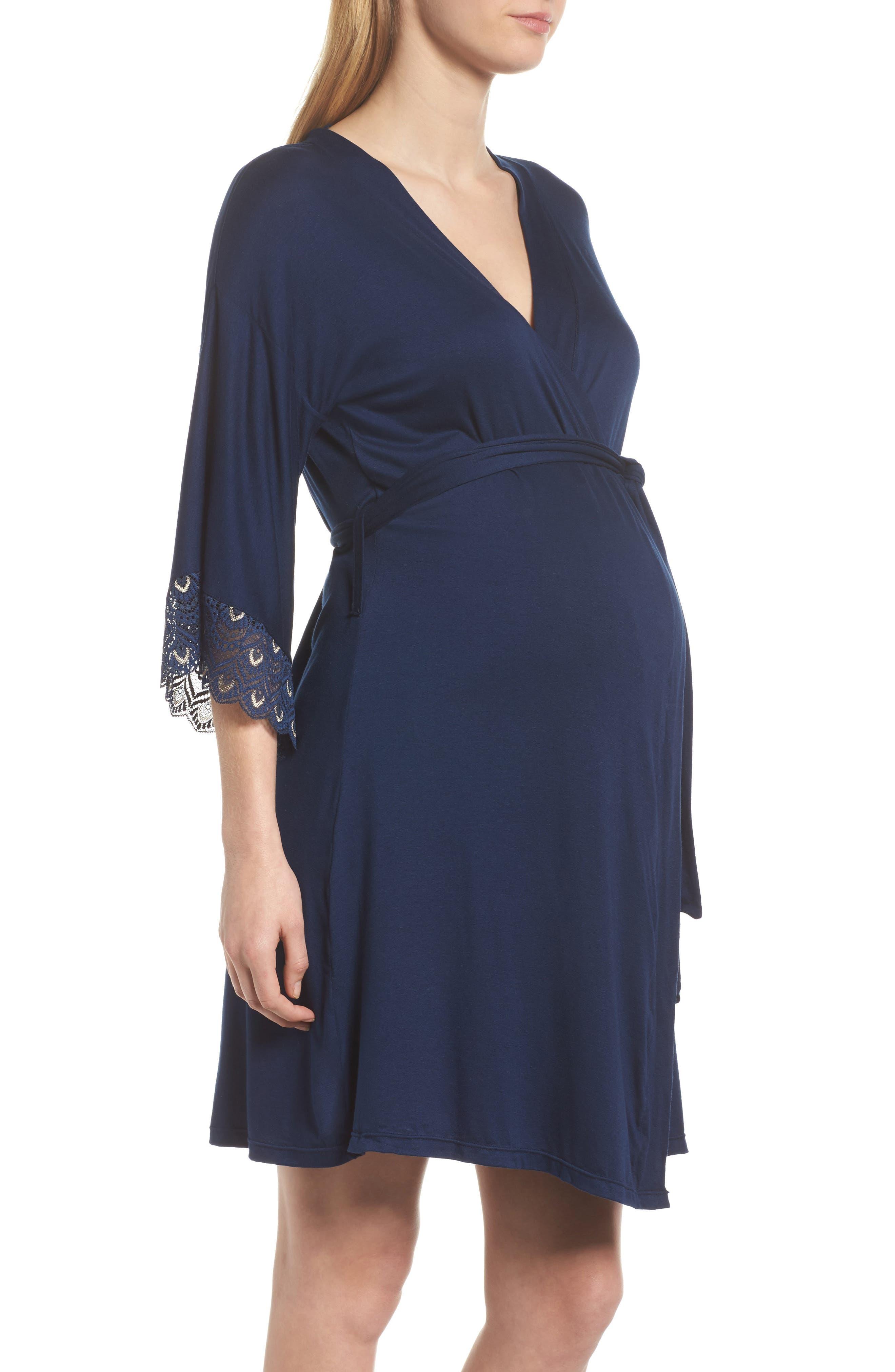 Alternate Image 3  - Belabumbum 'Tallulah' Maternity Jersey Robe
