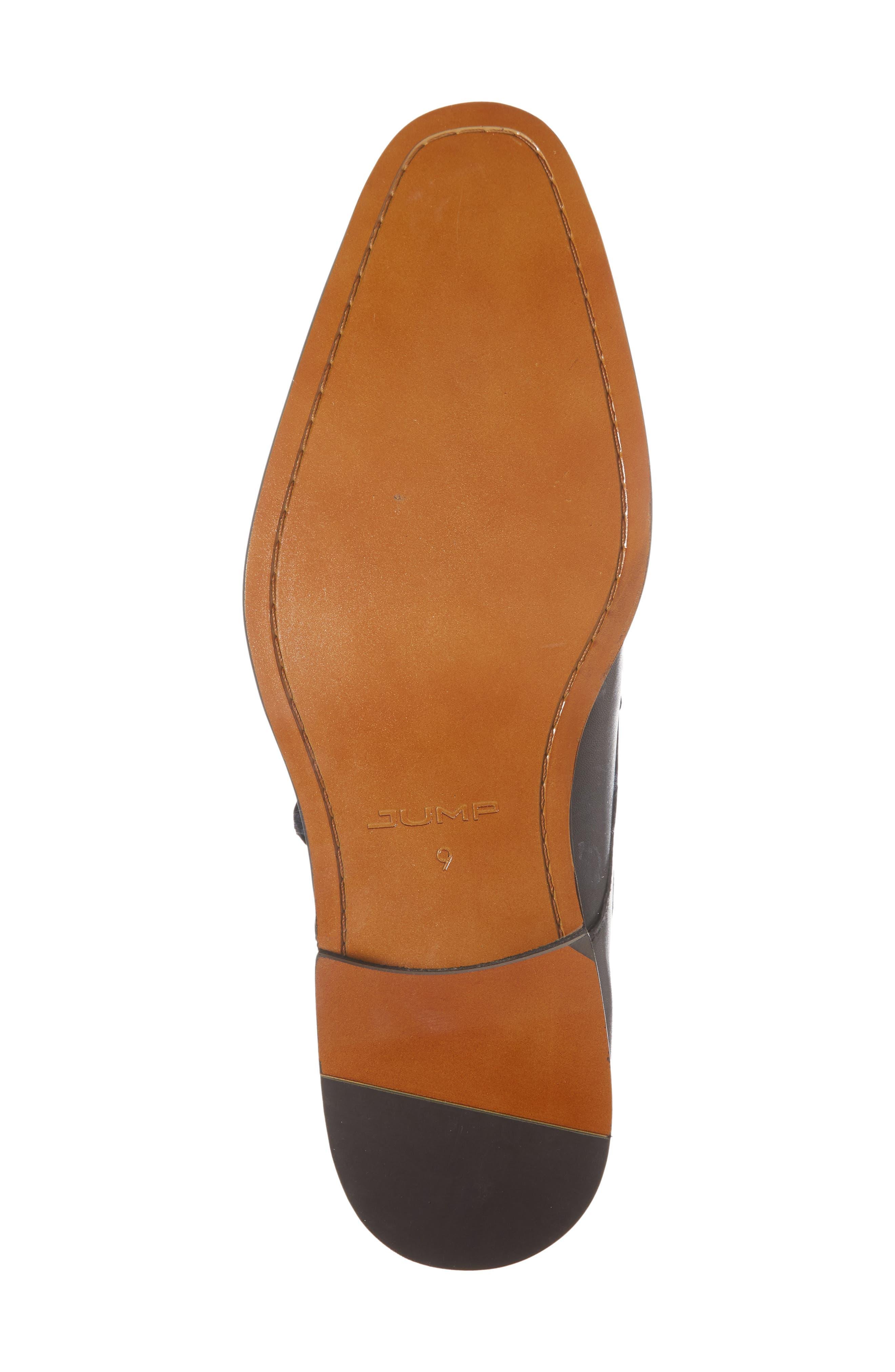 Miguel Monk Strap Shoe,                             Alternate thumbnail 6, color,                             Black Leather
