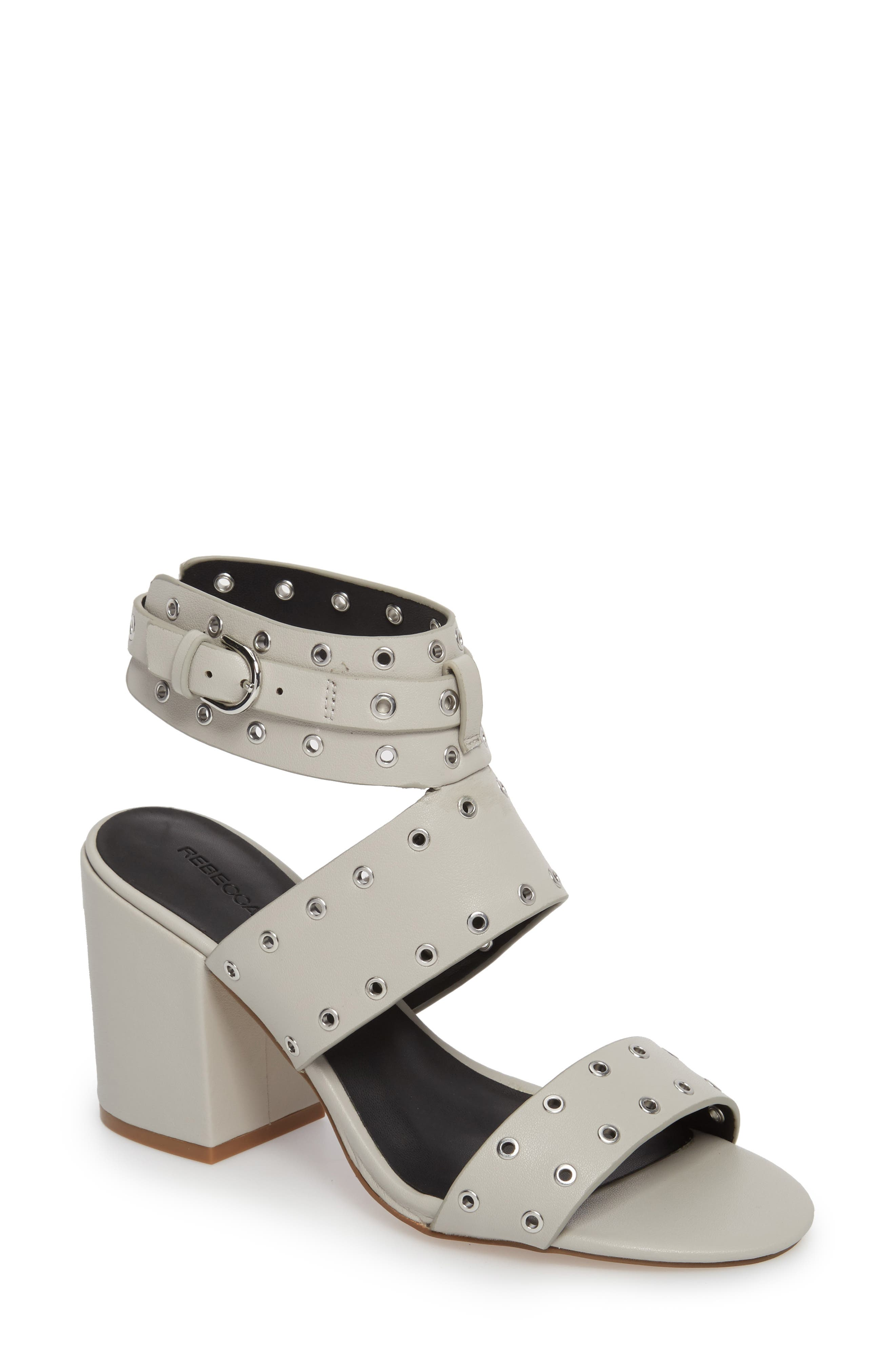 Carter Grommet Sandal,                         Main,                         color, Putty Calf Leather