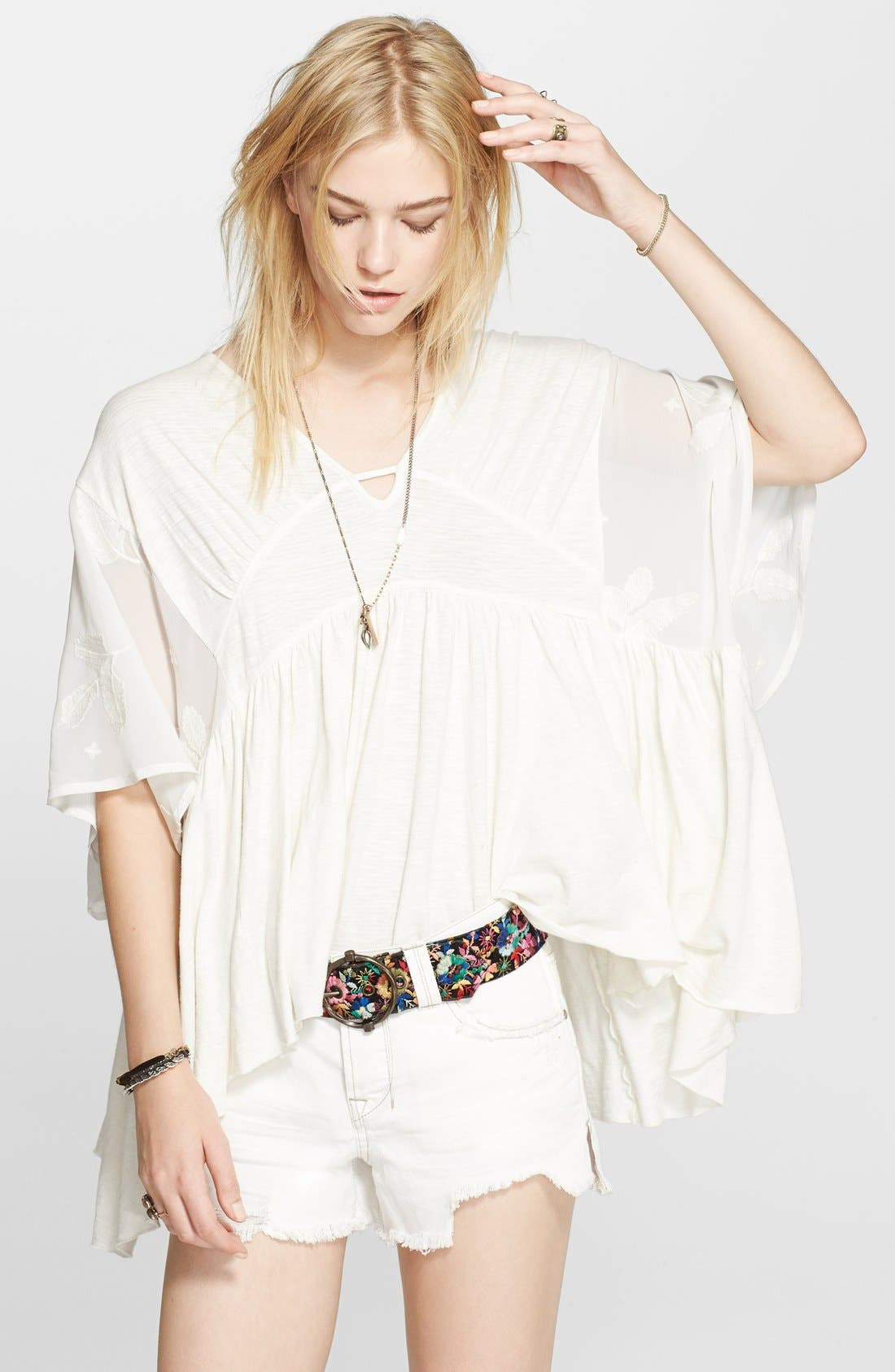 Alternate Image 1 Selected - Free People 'New World' Caftan Blouse