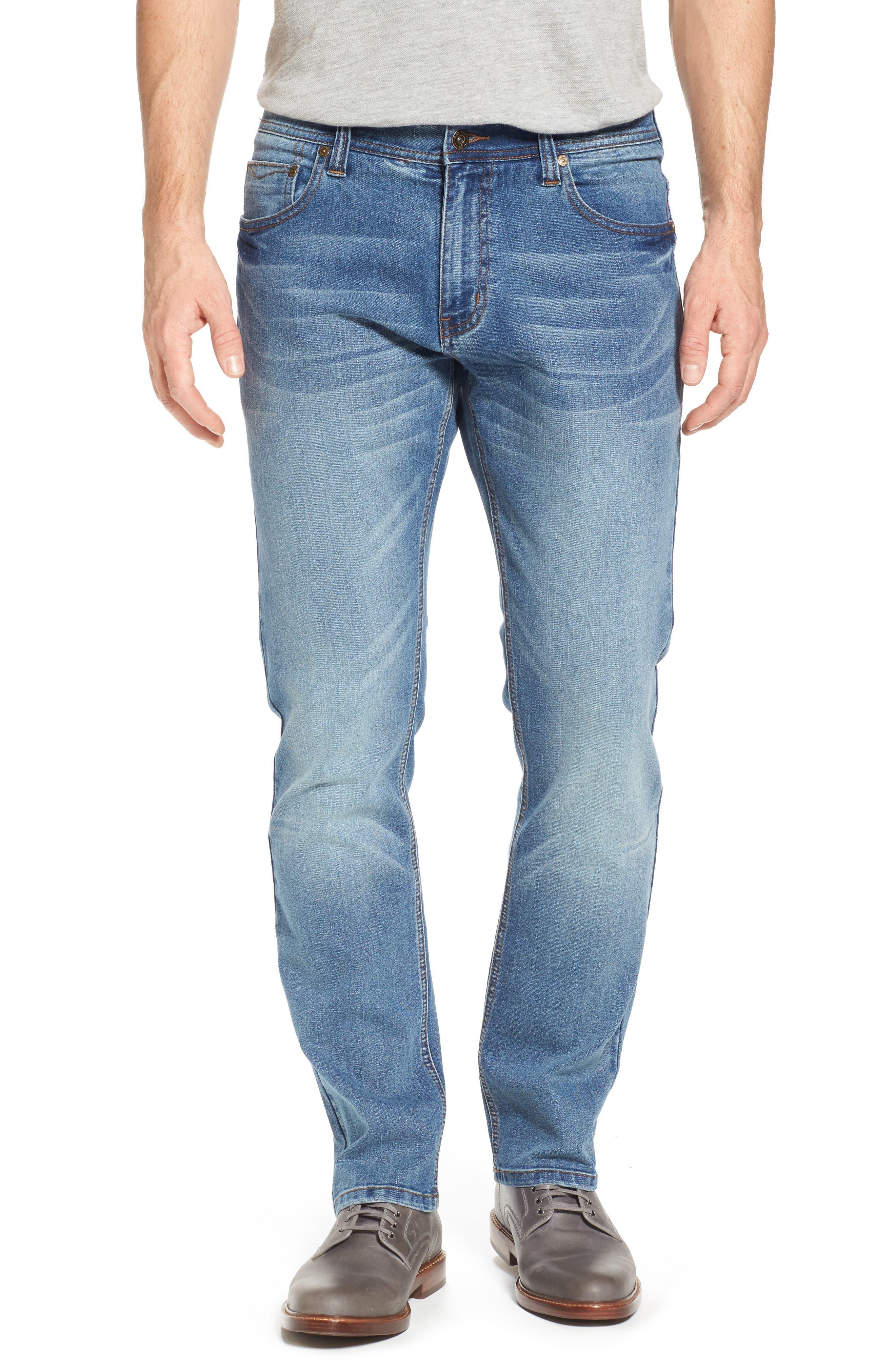 Maverick Stretch Slim Fit Jeans,                         Main,                         color, Beach Wash