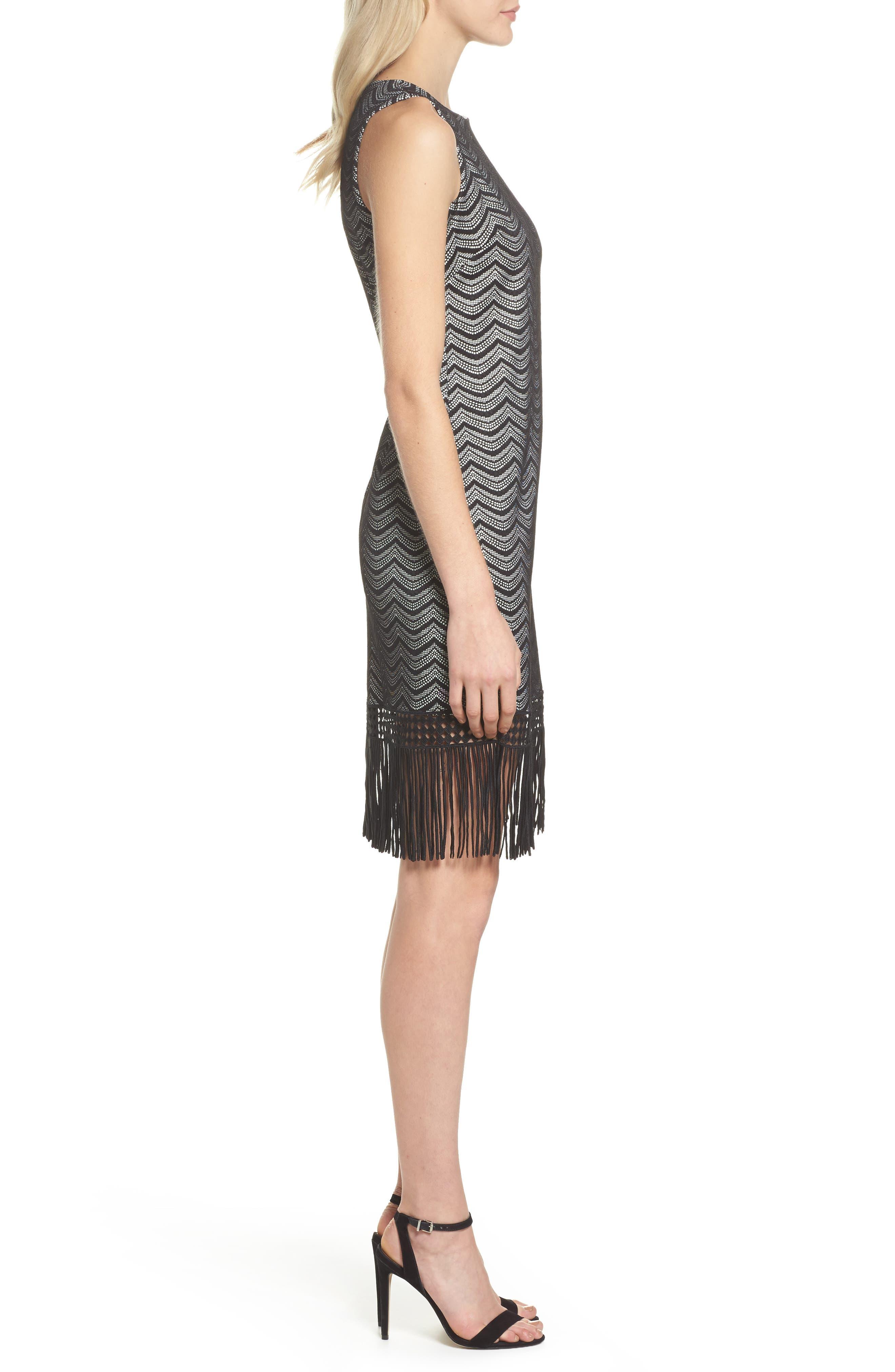 Alternate Image 3  - Julia Jordan Fringe Sheath Dress