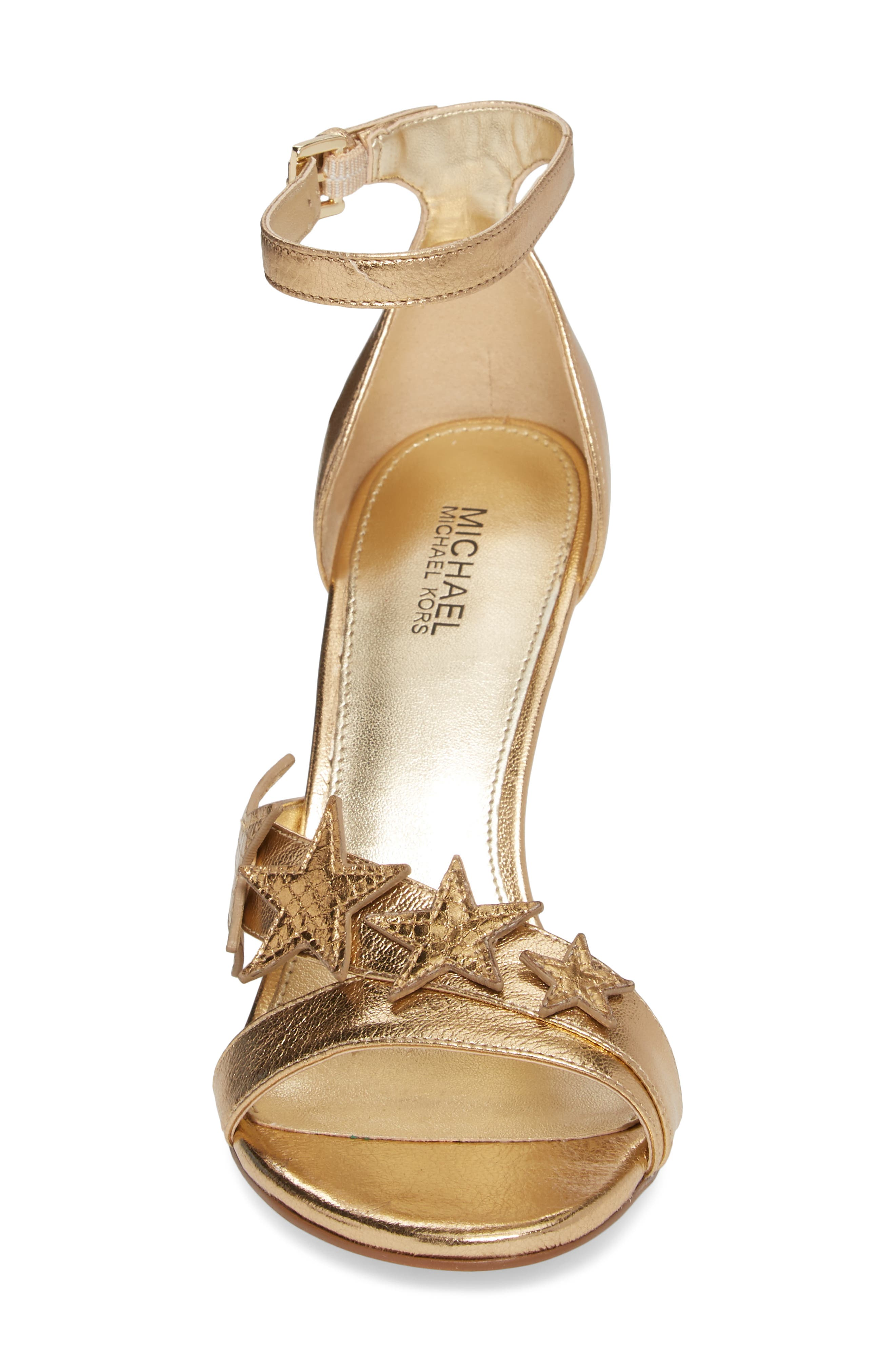 Lexie Sandal,                             Alternate thumbnail 4, color,                             Pale Gold Nappa Leather