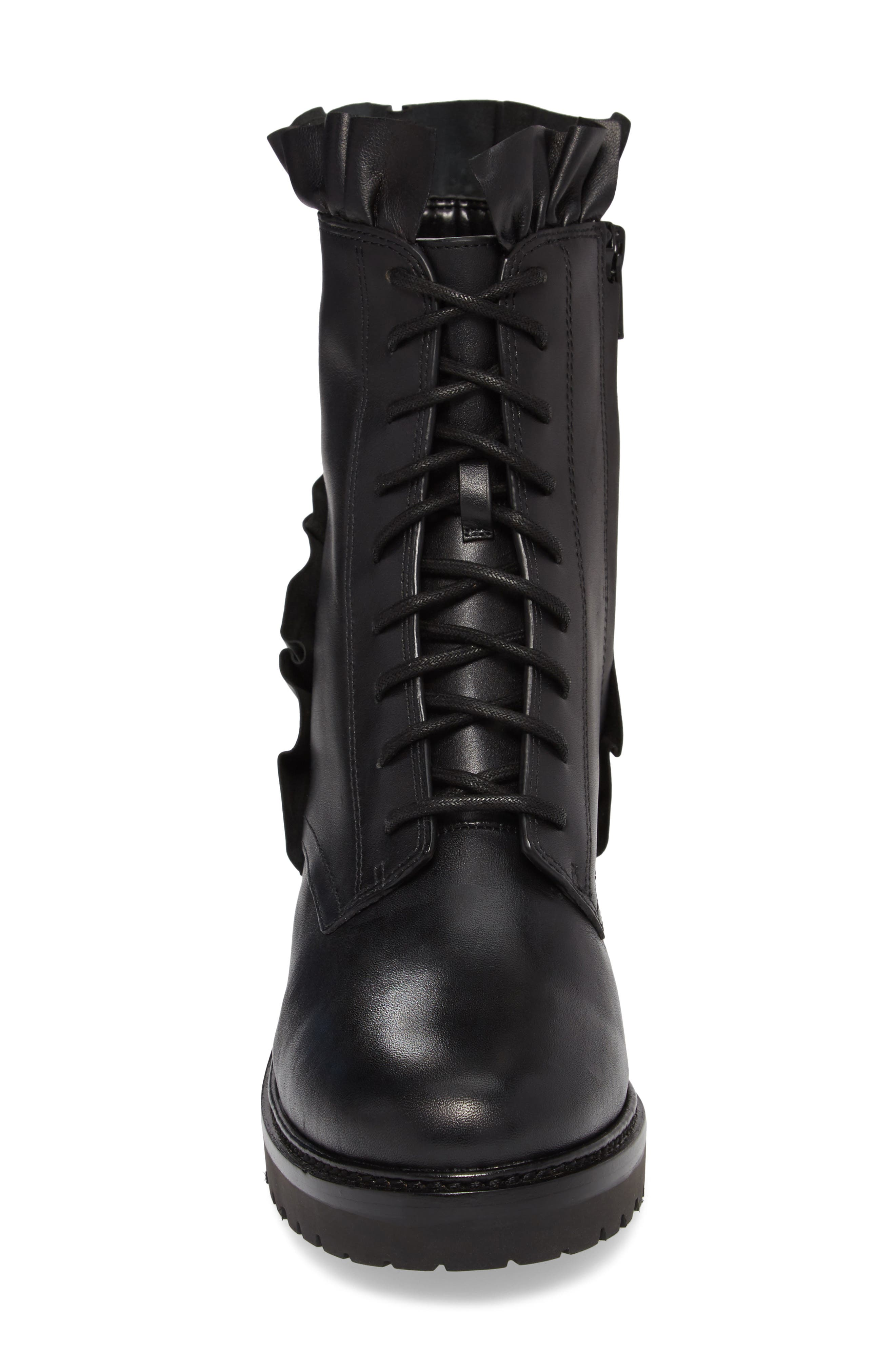 Bella Boot,                             Alternate thumbnail 4, color,                             Black Nappa Leather