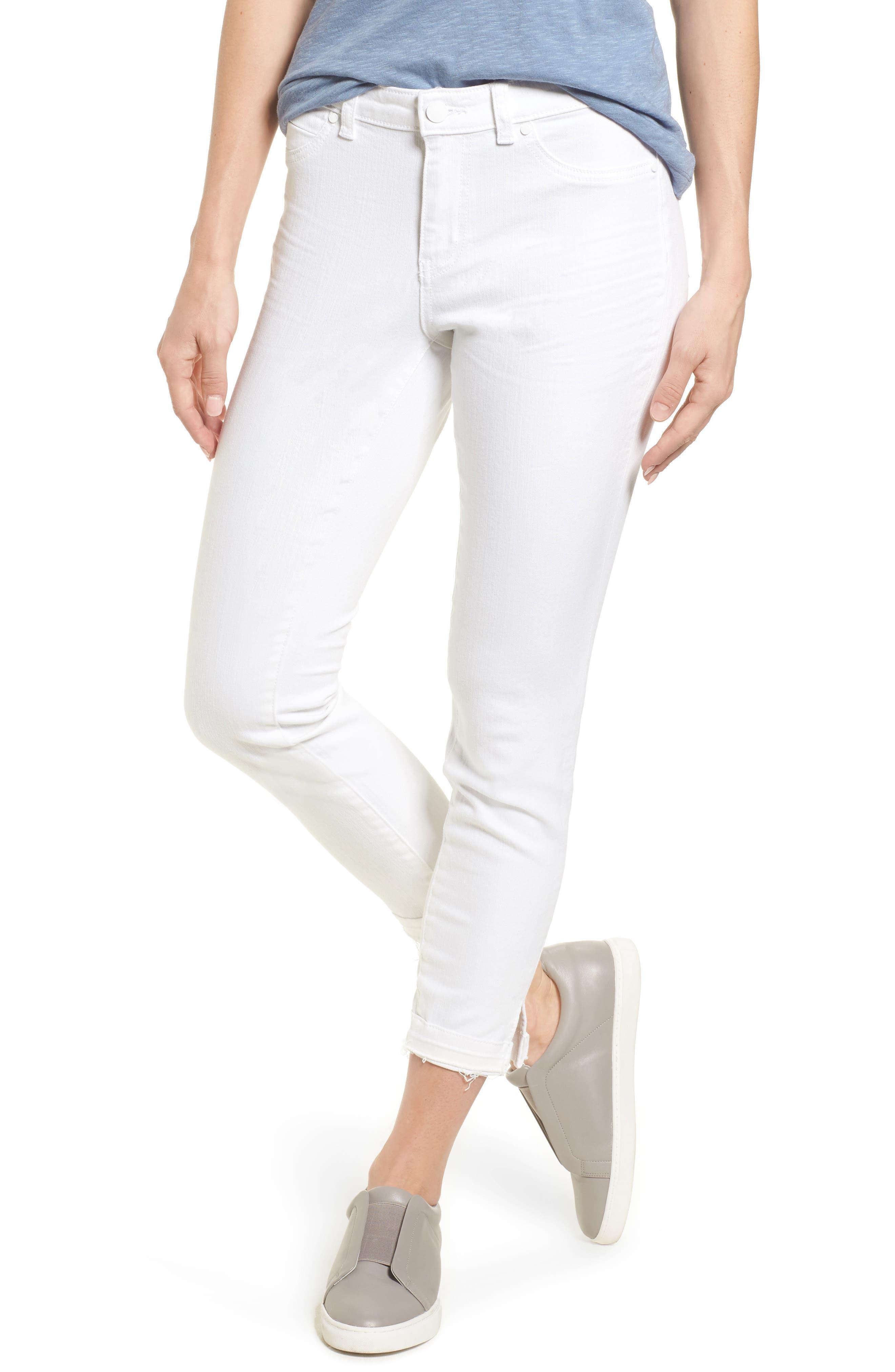 Caslon® Released Hem Skinny Jeans (Regular & Petite)