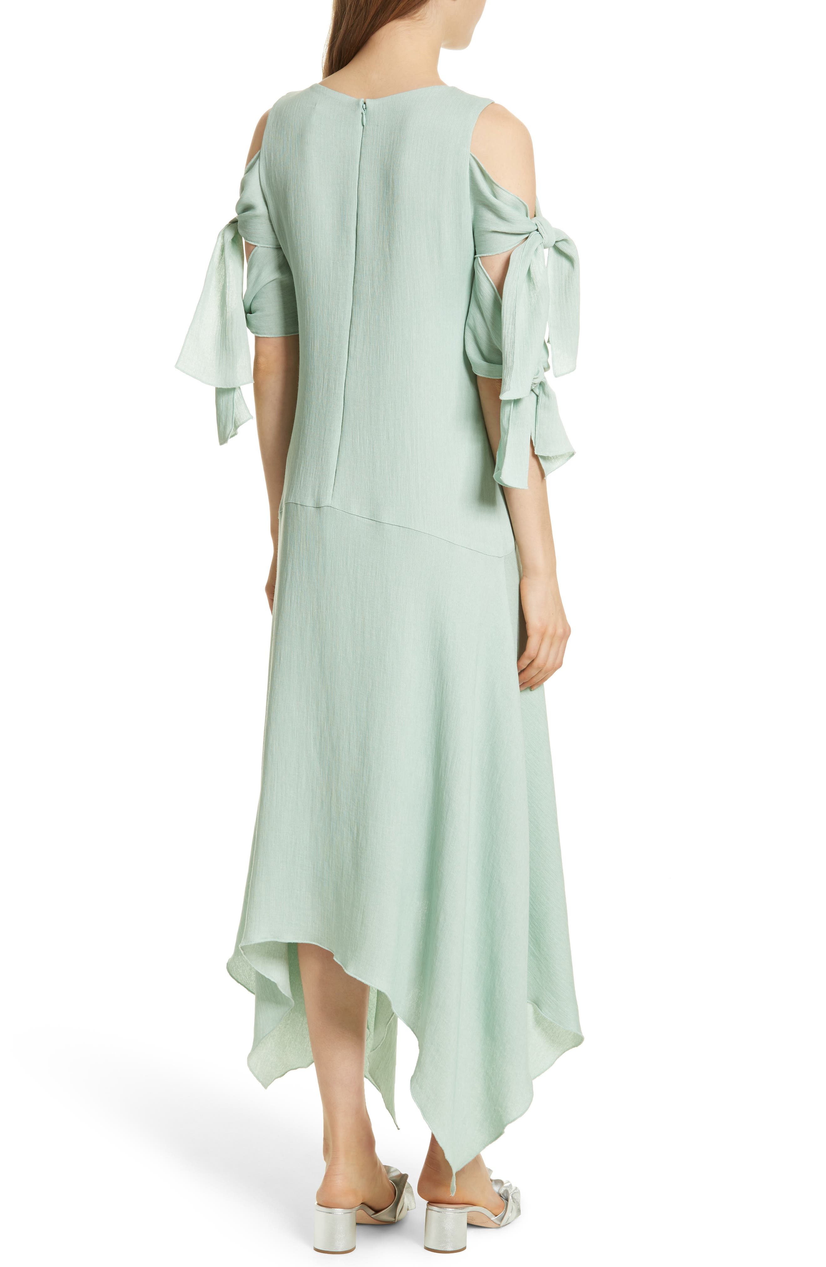 Prose & Poetry Vivianna Drop Waist Midi Dress,                             Alternate thumbnail 2, color,                             Aqua Foam