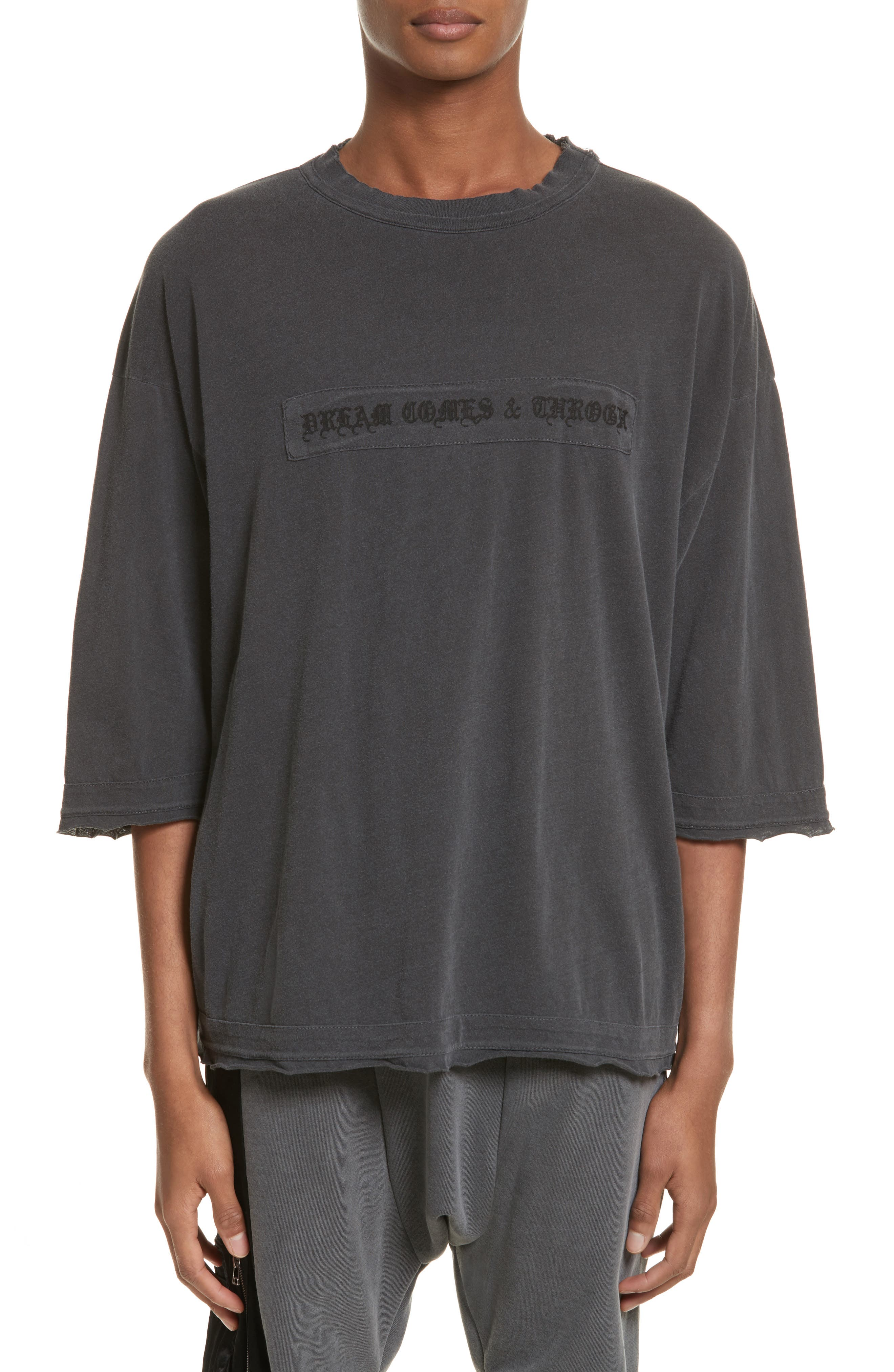 Eshu Oversize T-Shirt,                             Main thumbnail 1, color,                             Black Pigment