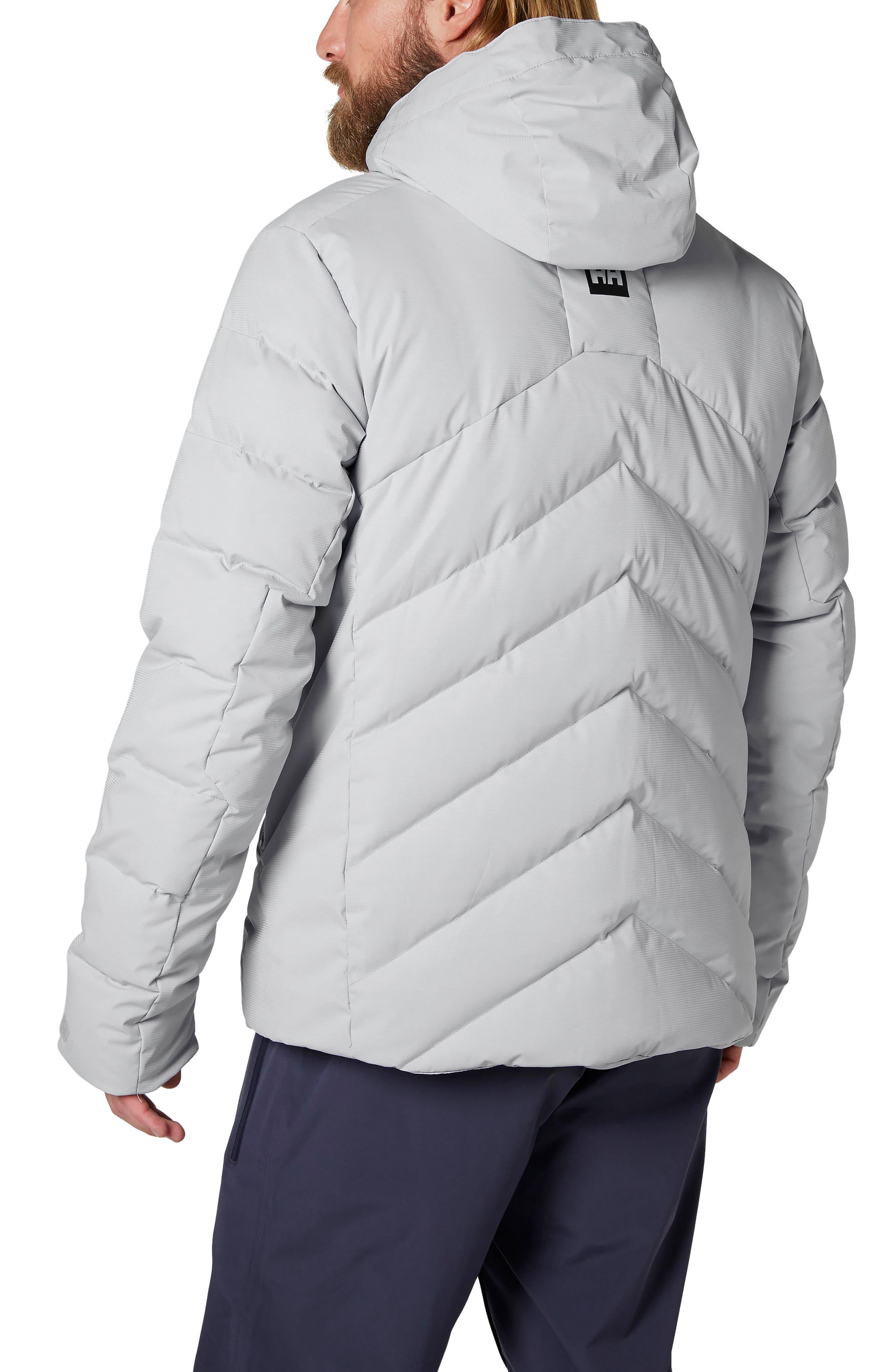 Swift Waterproof Down Hooded Jacket,                             Alternate thumbnail 2, color,                             Light Grey