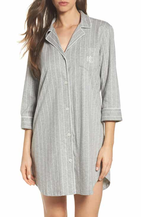15cff98271f Lauren Ralph Lauren Cotton Jersey Sleep Shirt (Online Only)
