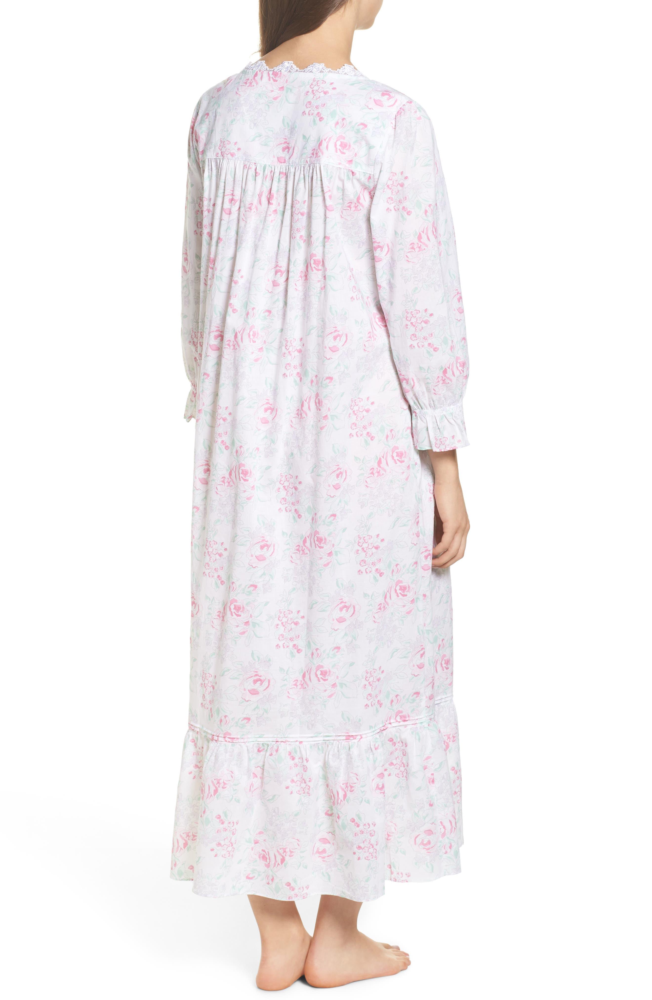 Alternate Image 2  - Eileen West Button Front Cotton Nightgown