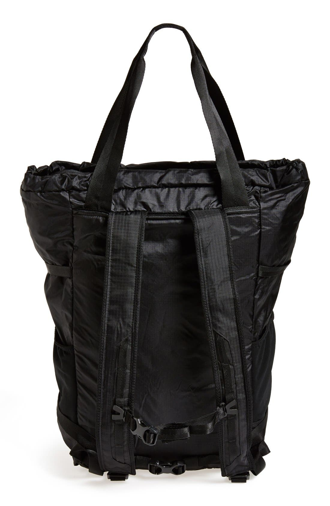 Lightweight Travel Tote Pack,                             Alternate thumbnail 3, color,                             Black