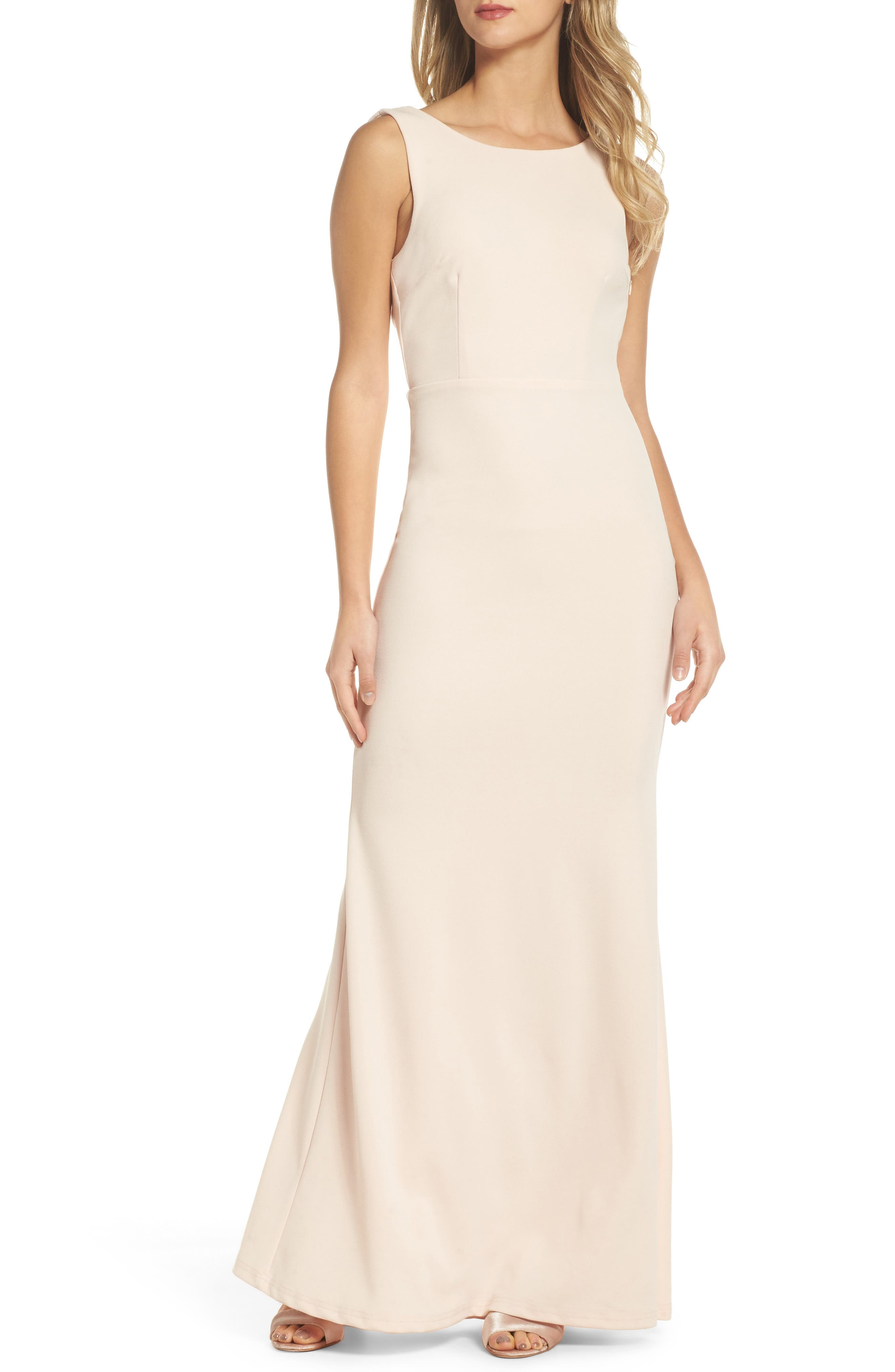 Bridesmaid wedding party dresses nordstrom lulus drape back trumpet gown ombrellifo Gallery