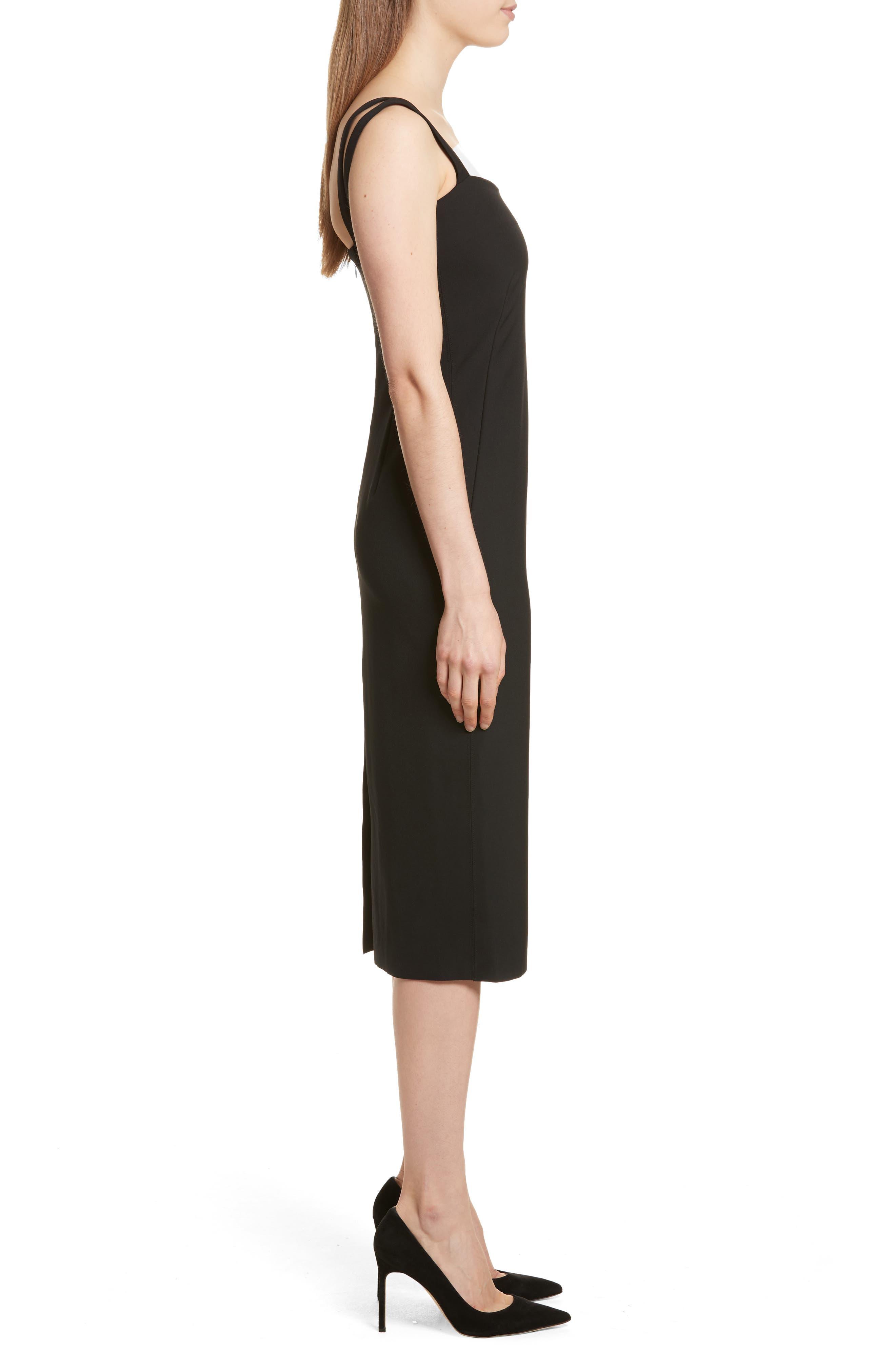 Perform Tech Perfect Sheath Dress,                             Alternate thumbnail 3, color,                             Black