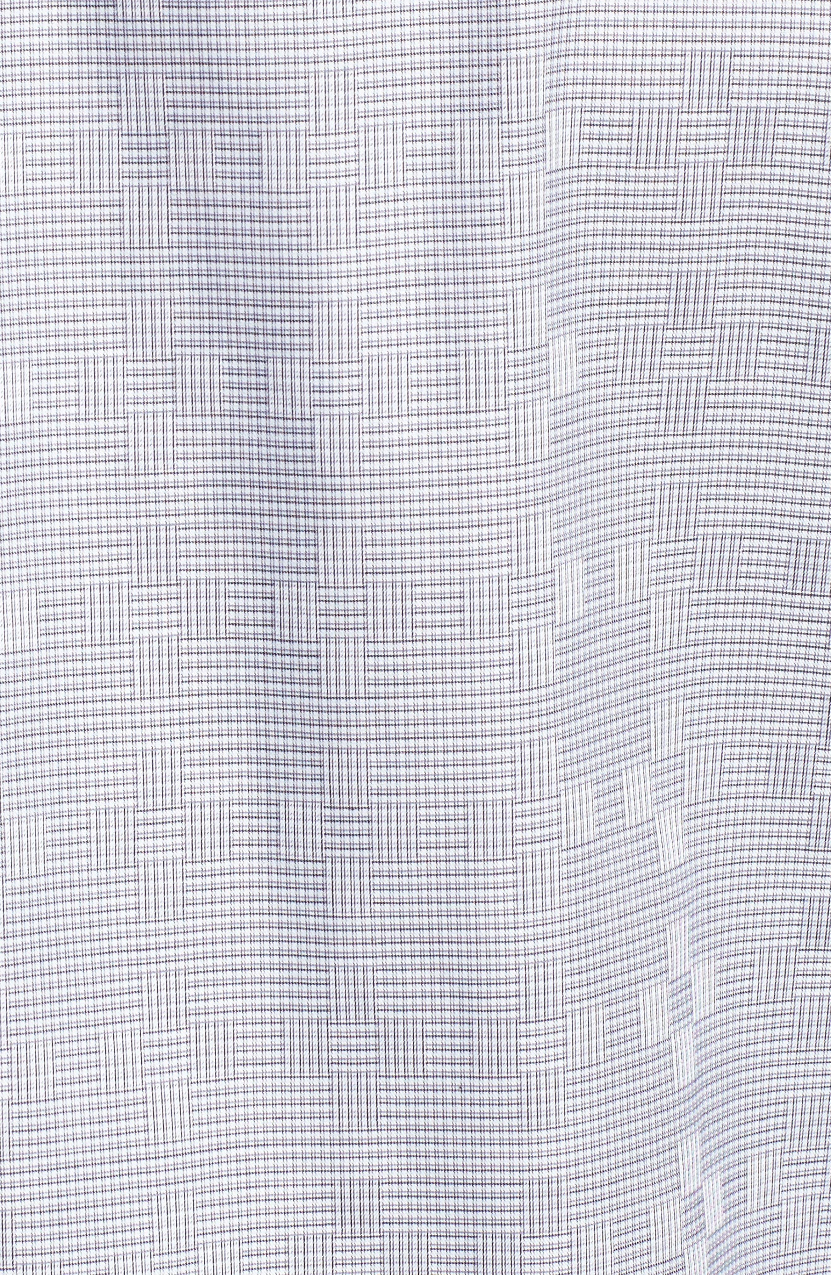 Alternate Image 5  - Bugatchi Classic Fit Print Sport Shirt