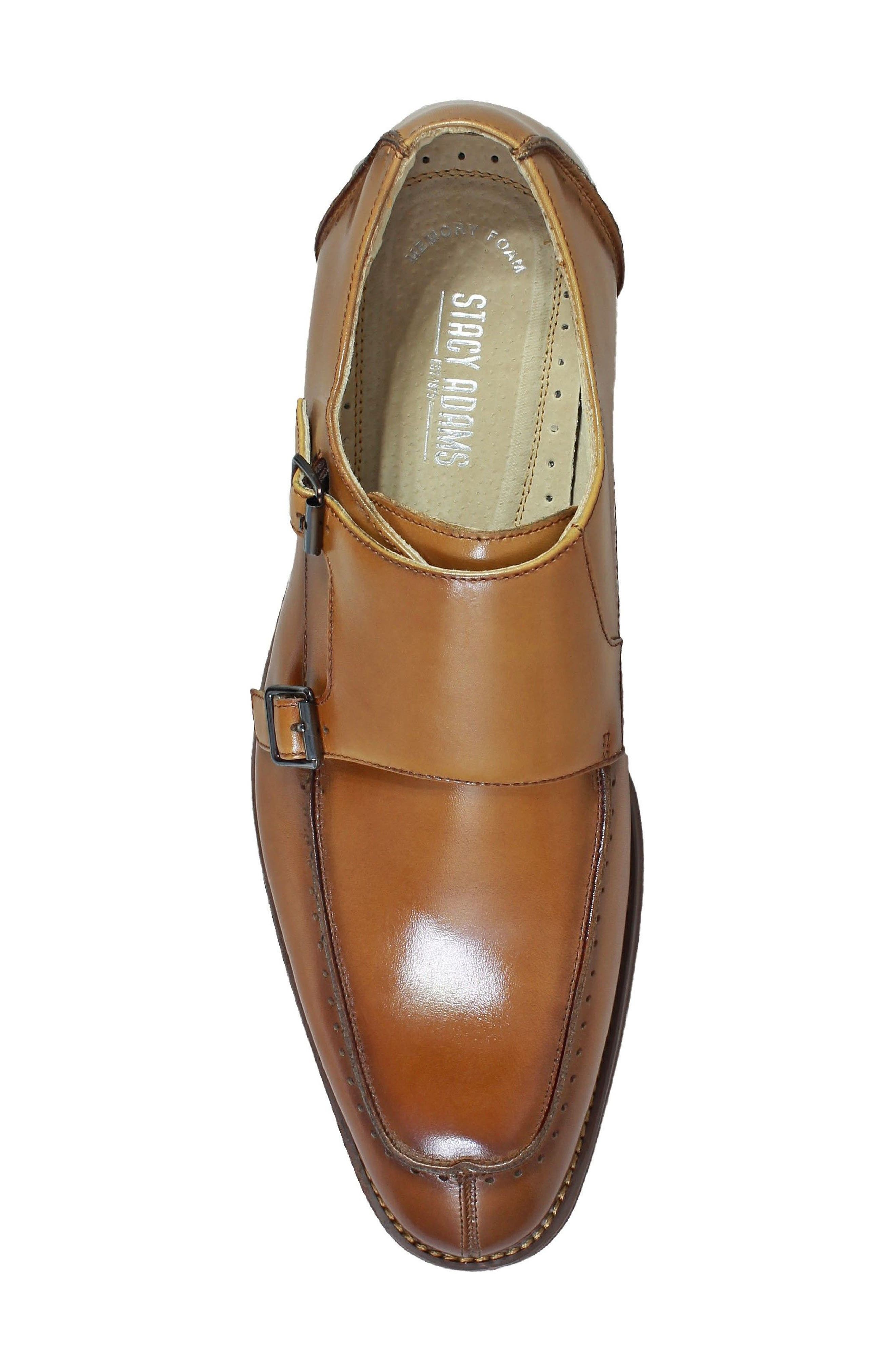 Baldwin Double Monk Strap Slip-On,                             Alternate thumbnail 5, color,                             Tan Leather