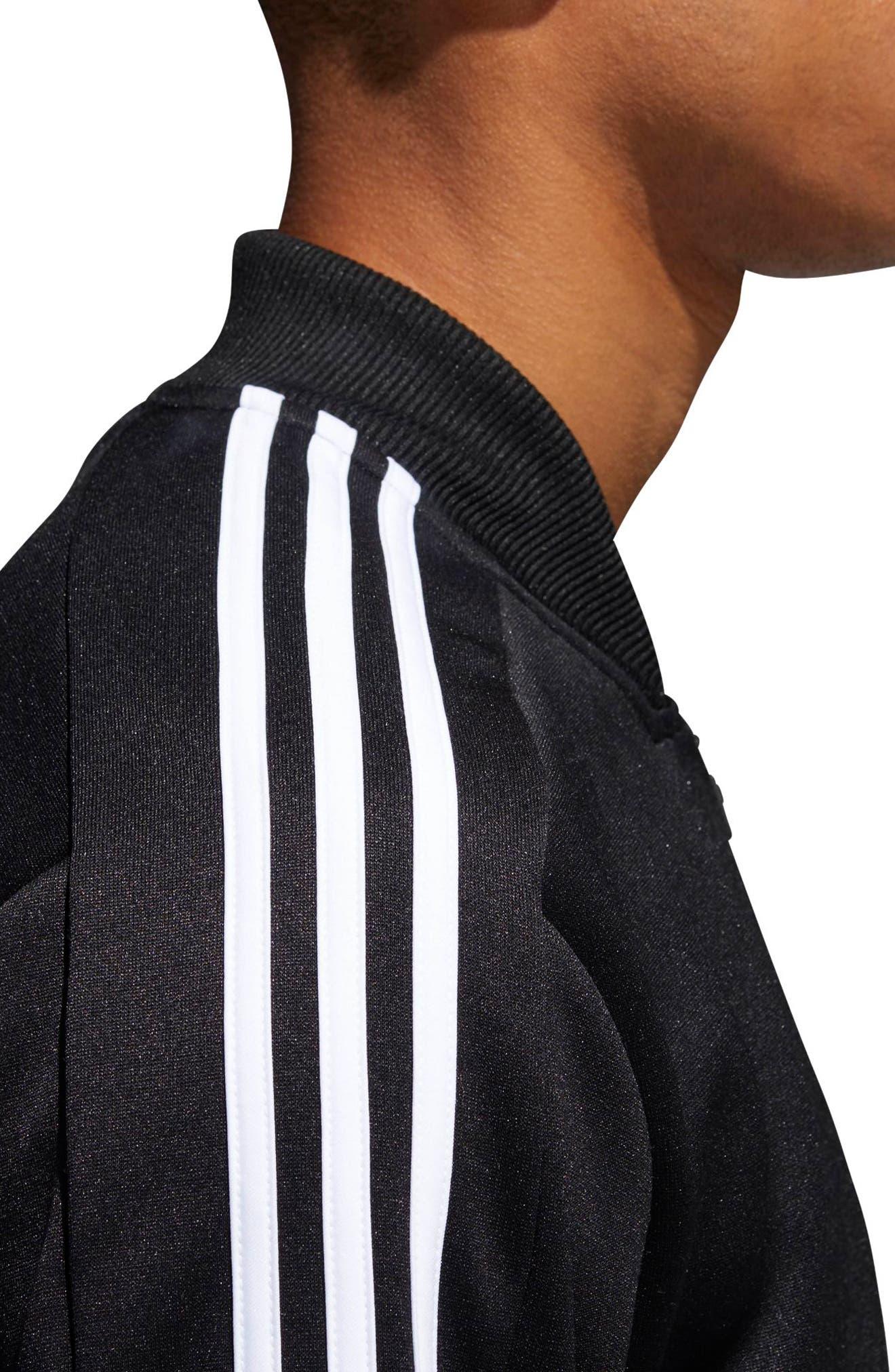 ID Trek Track Jacket,                             Alternate thumbnail 3, color,                             Black / White