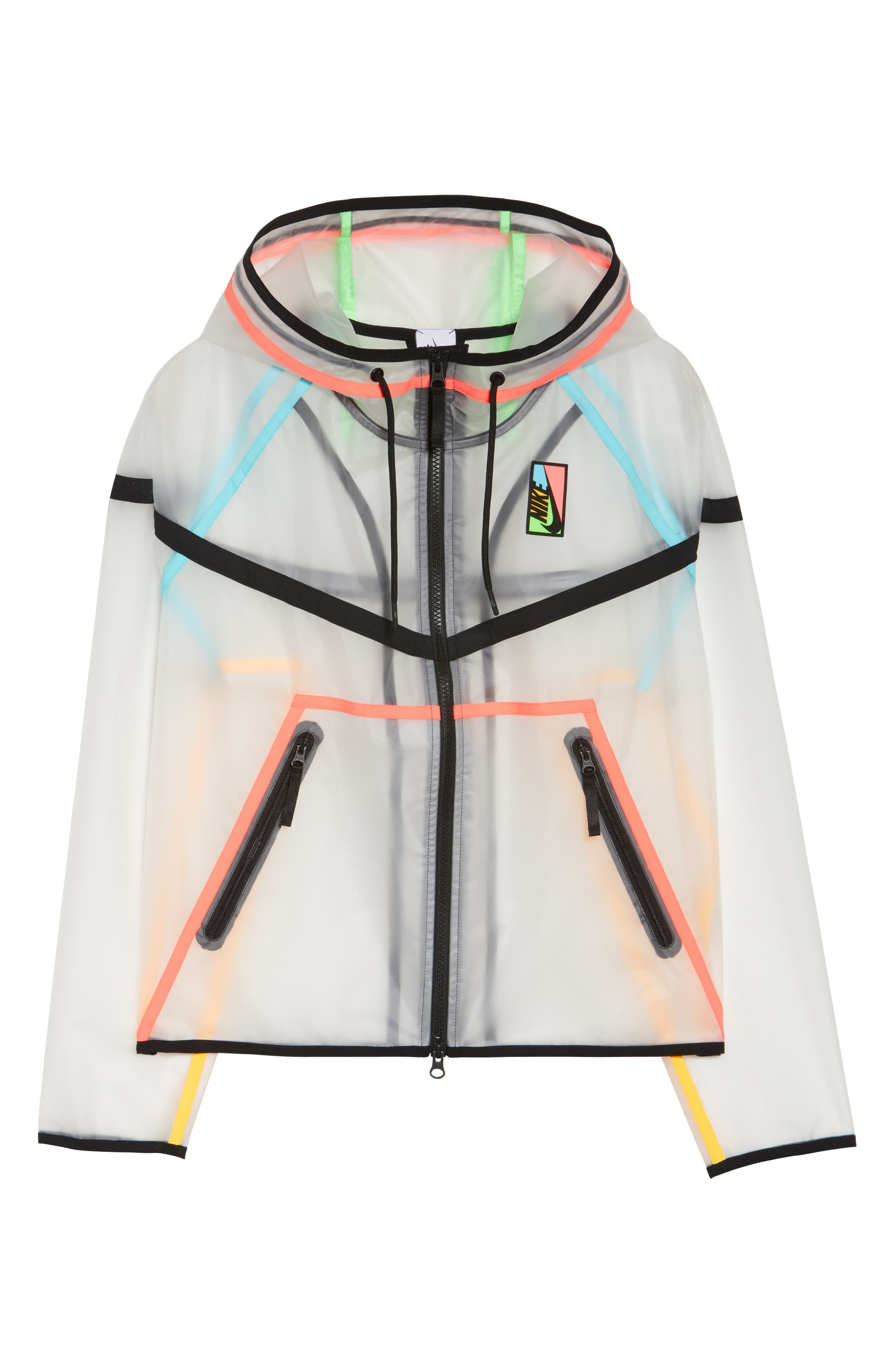 NikeLab Collection Ghost Windrunner Women's Jacket,                             Alternate thumbnail 7, color,                             Clear