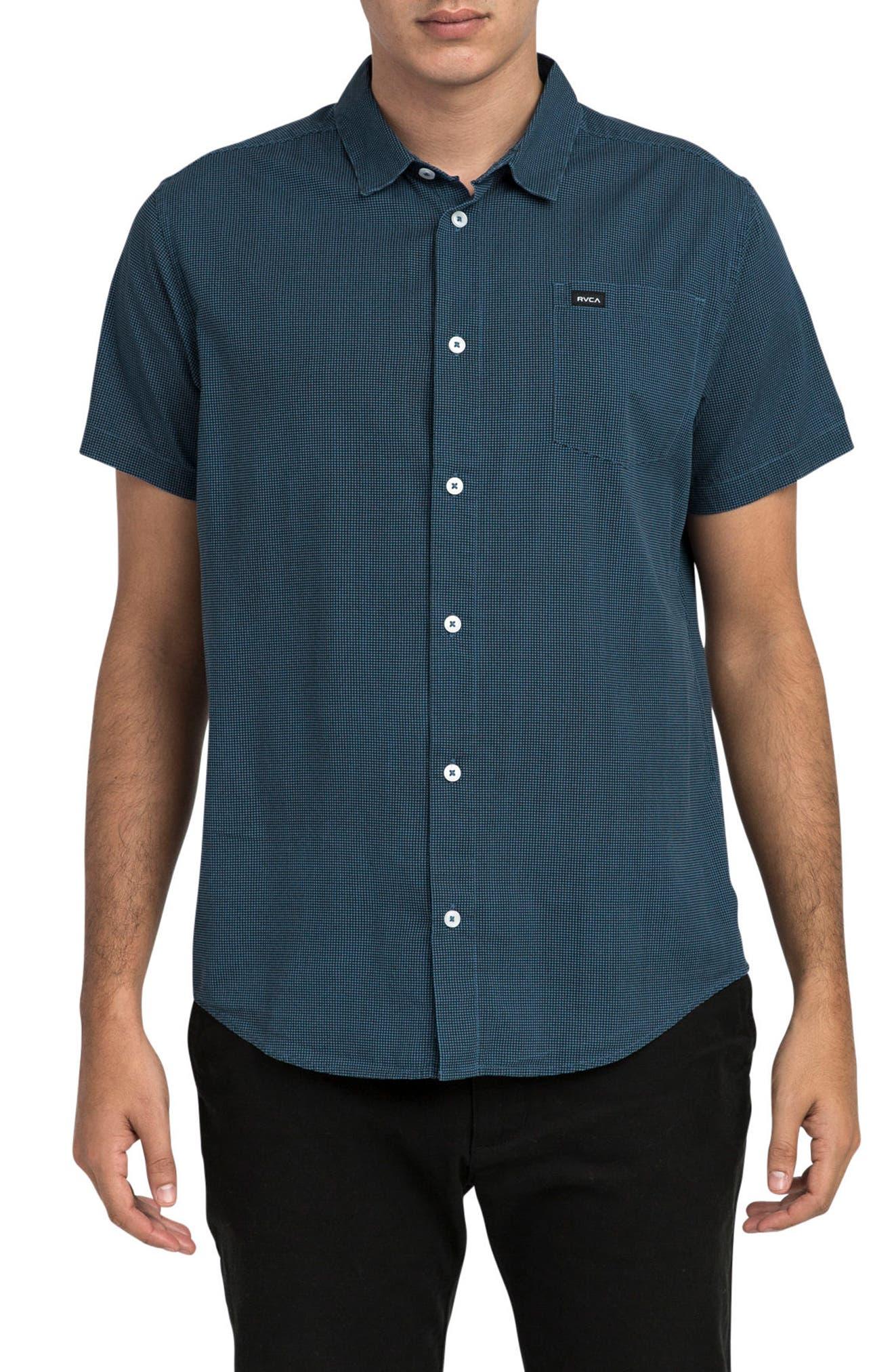 No Name Woven Shirt,                         Main,                         color, Dark Denim