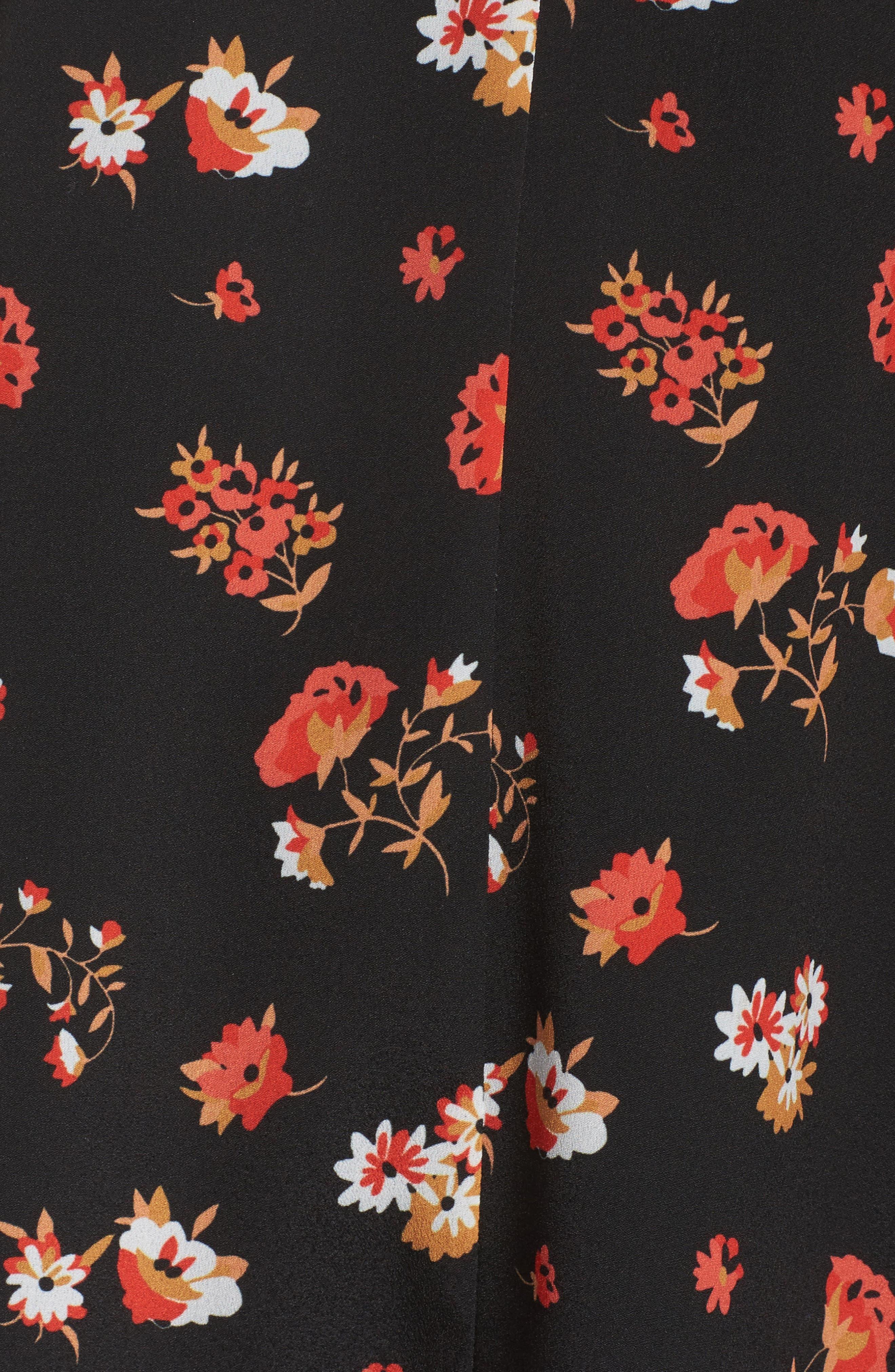 Tamar Cold Shoulder Shift Dress,                             Alternate thumbnail 5, color,                             Black Multi
