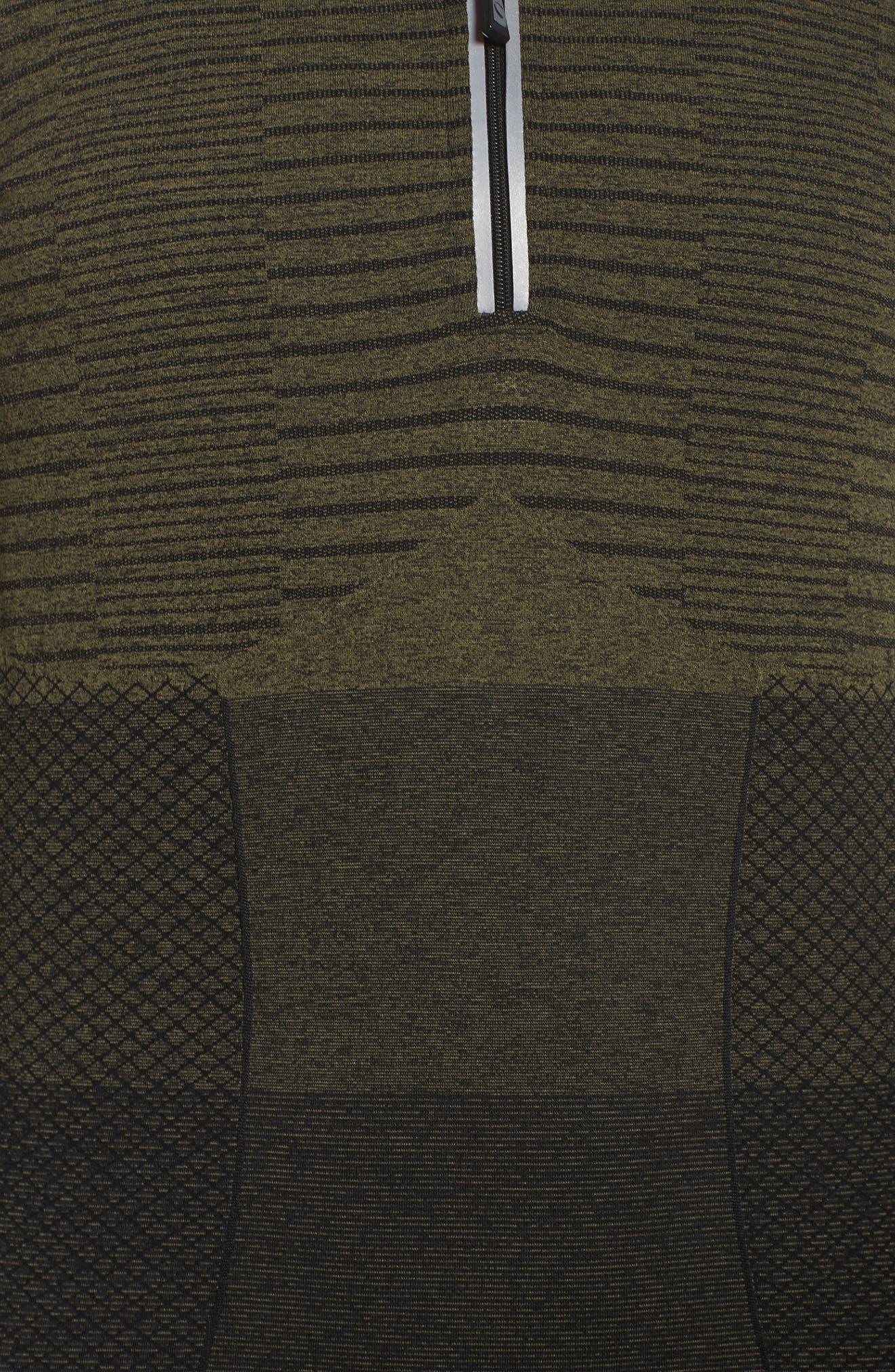 Vitality Quarter Zip Pullover,                             Alternate thumbnail 6, color,                             Deep Lichen Green/ Black
