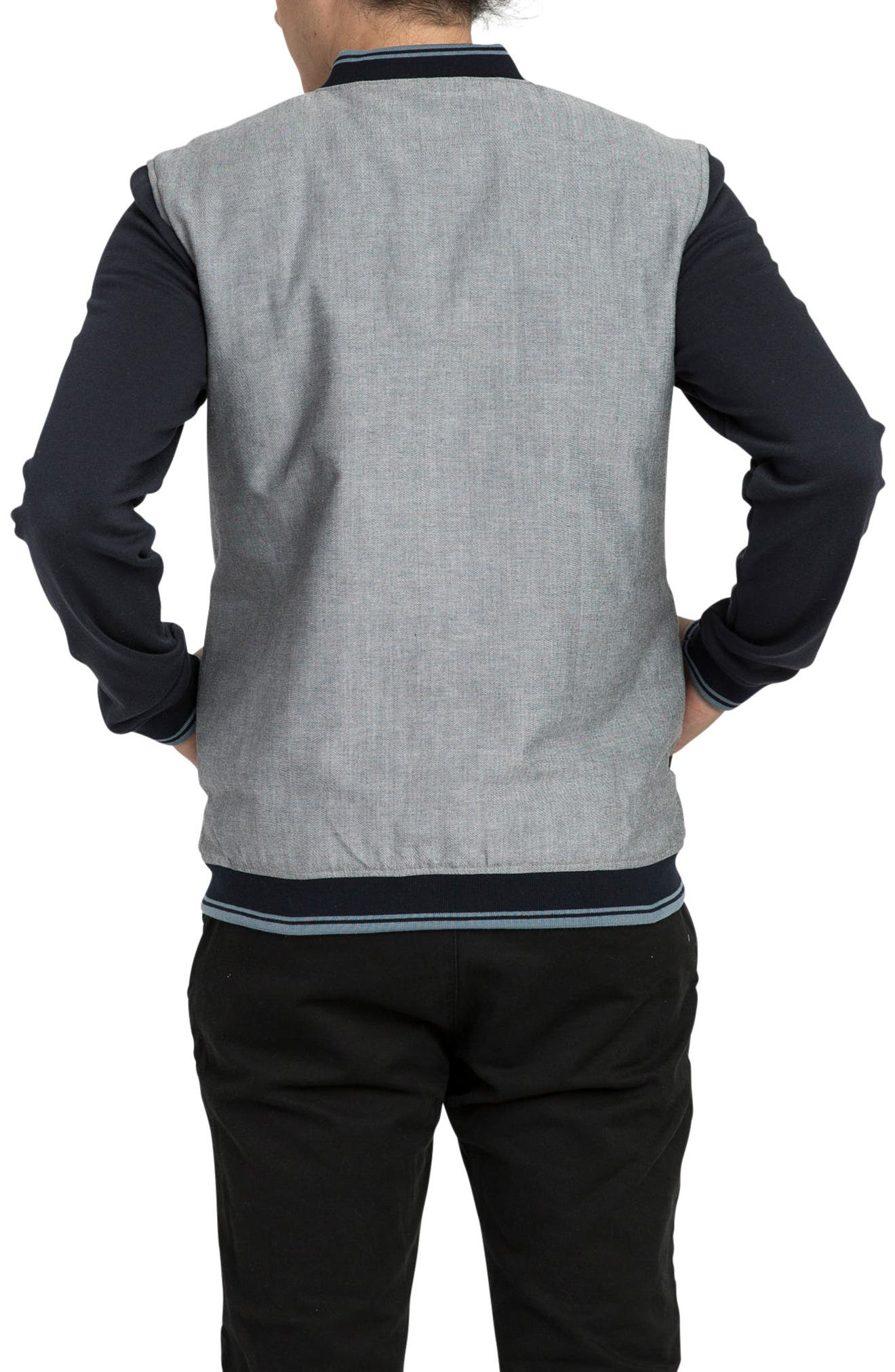 Oxford Bomber Jacket,                             Alternate thumbnail 2, color,                             Carbon