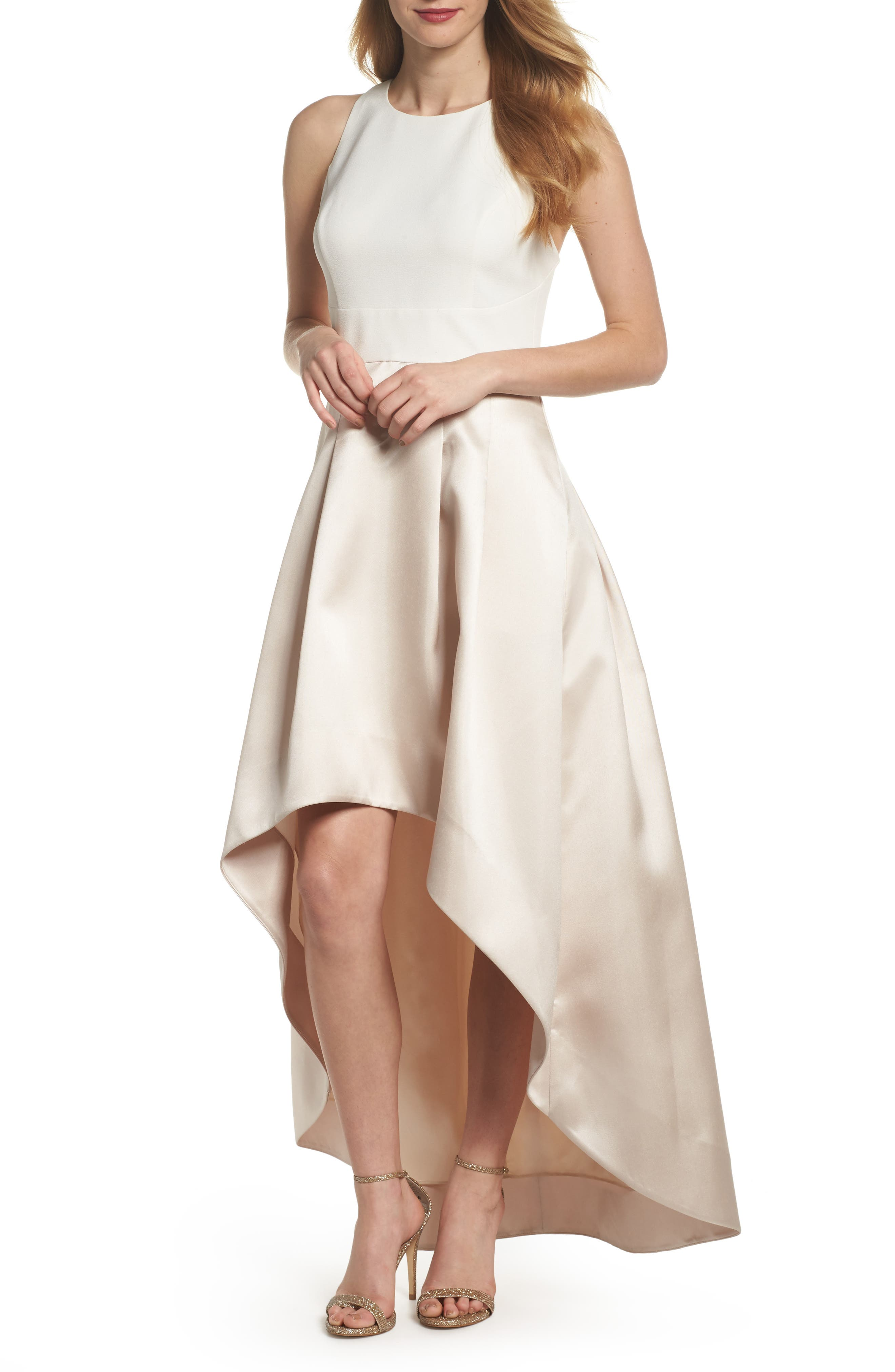 High/Low Gown,                         Main,                         color, White Champagne